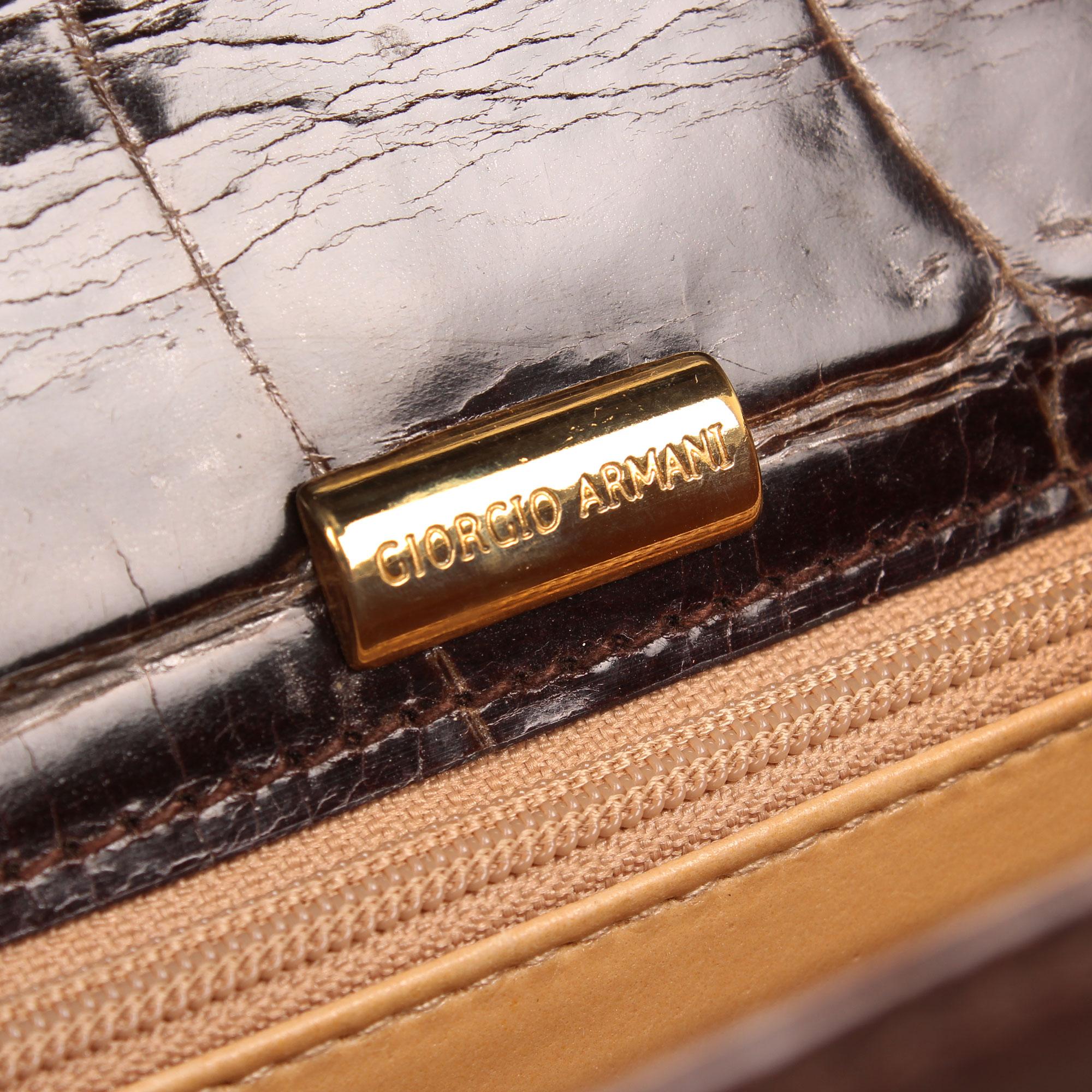 Imagen de la marca del armani clutch croco marron