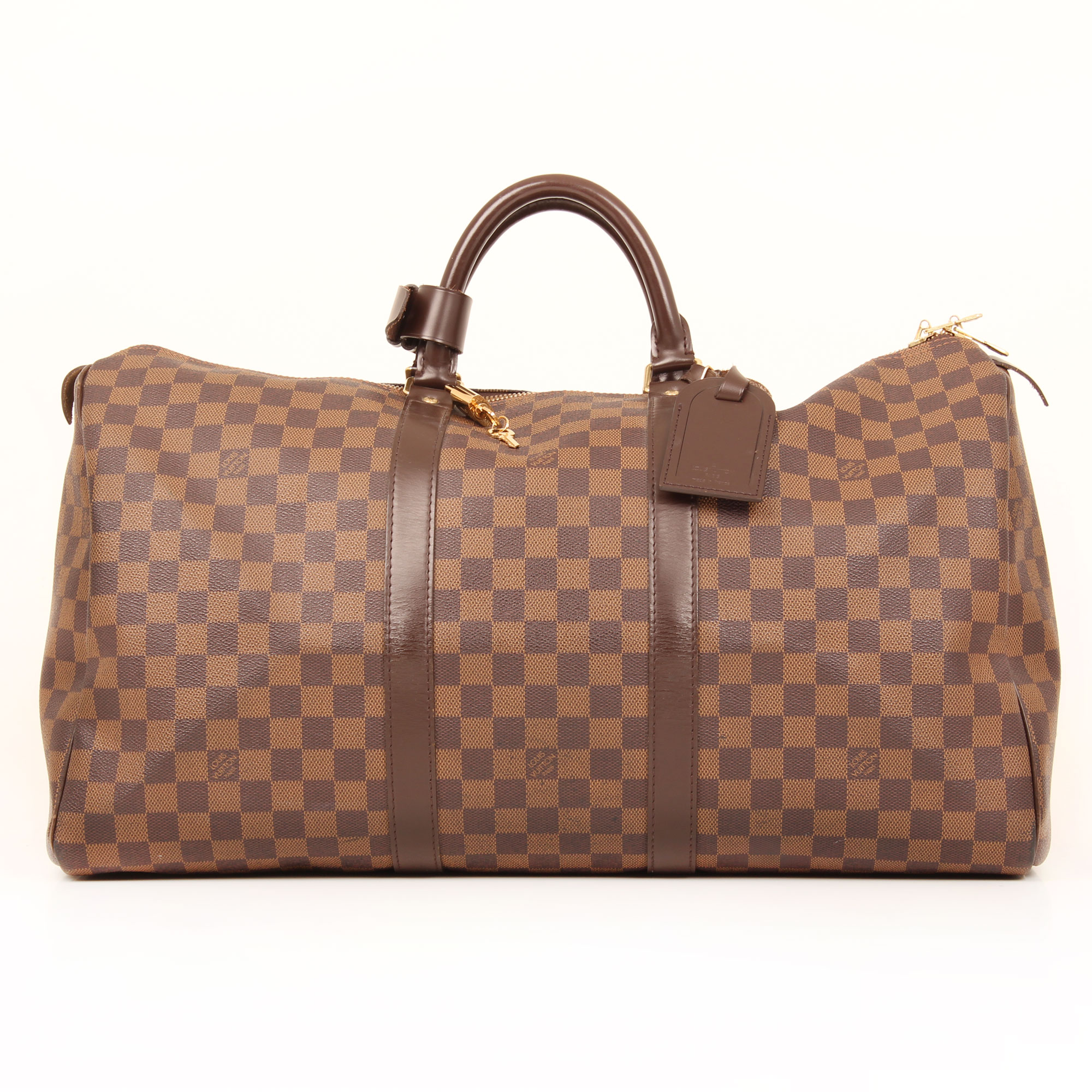 travel-bag-louis-vuitton-keepall-50-damier-ebene-front