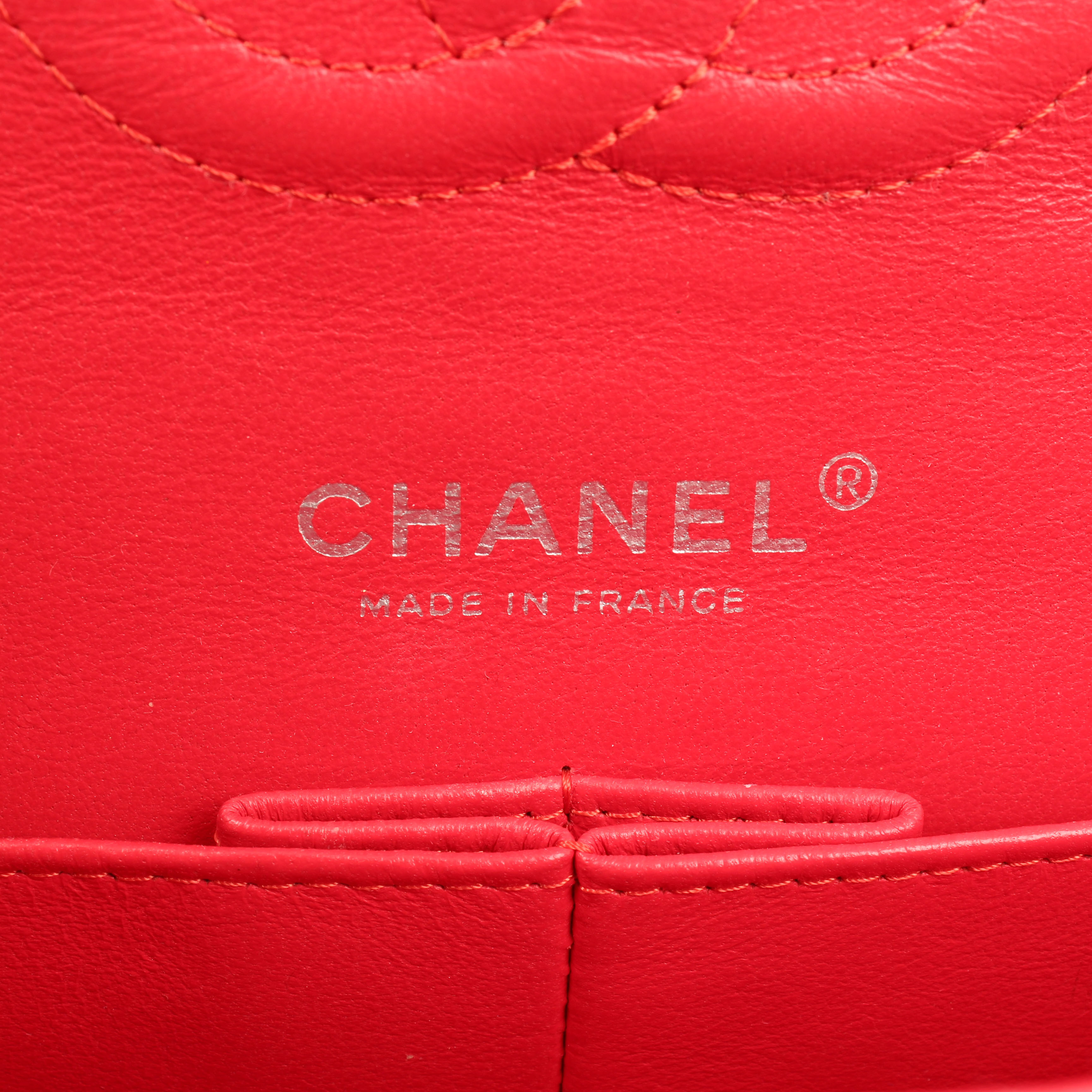 Image of brand from chanel timeless tweed pink multicolor neon double flap bag