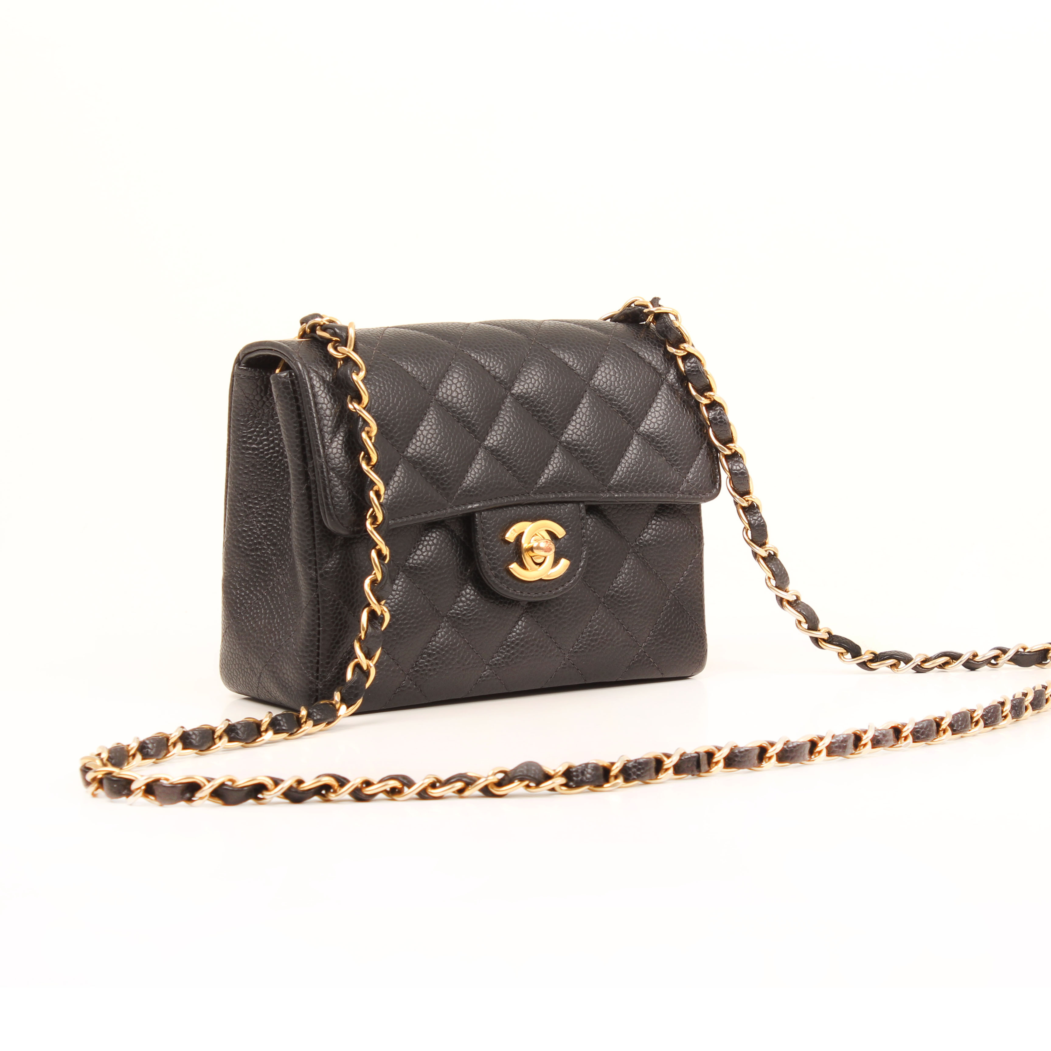 bolso-chanel-timeless-mini-caviar-single-flap-piel-negro-cadena