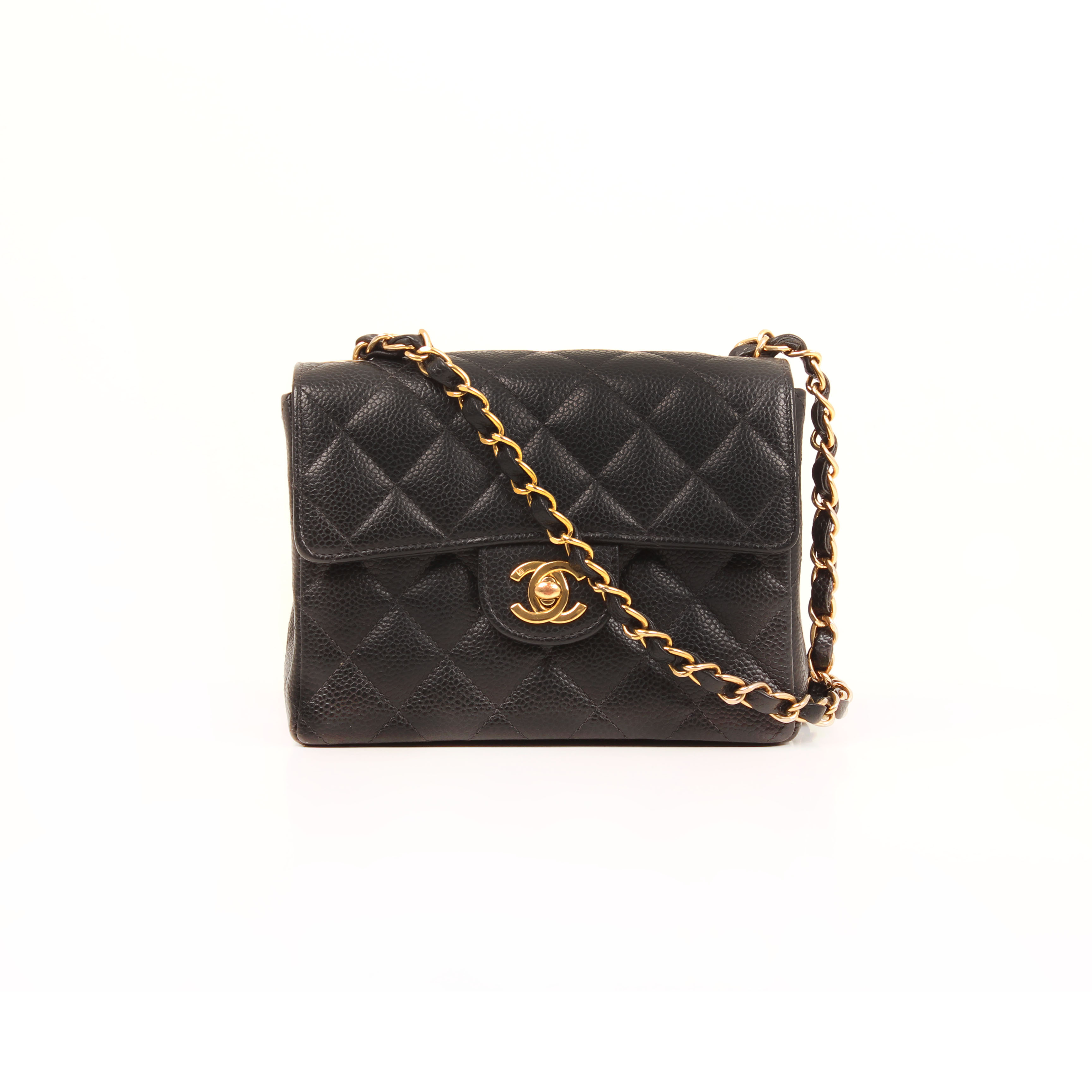 bolso-chanel-timeless-mini-caviar-single-flap-piel-negro-frontal