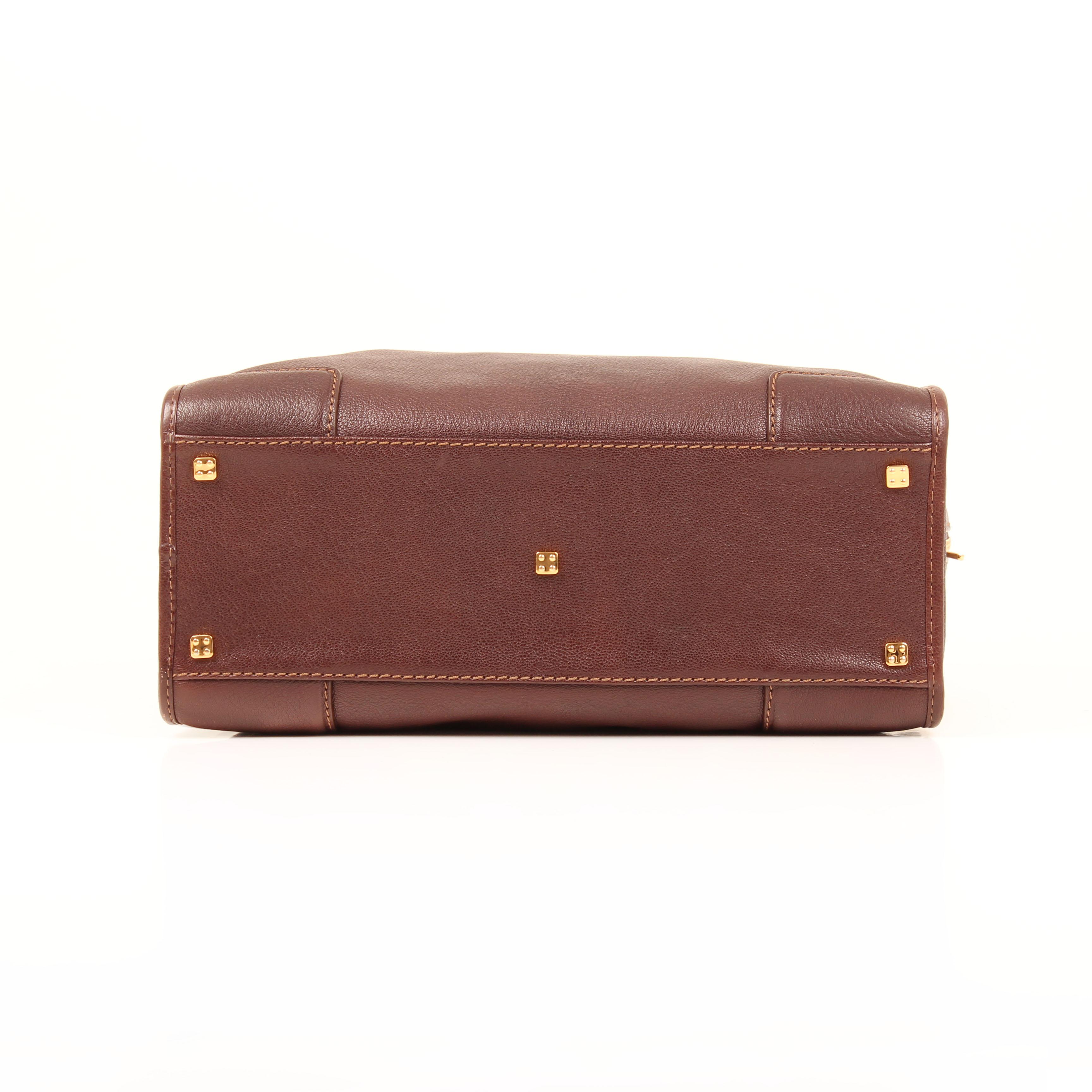 handbag loewe amazona 36 leather brown bottom