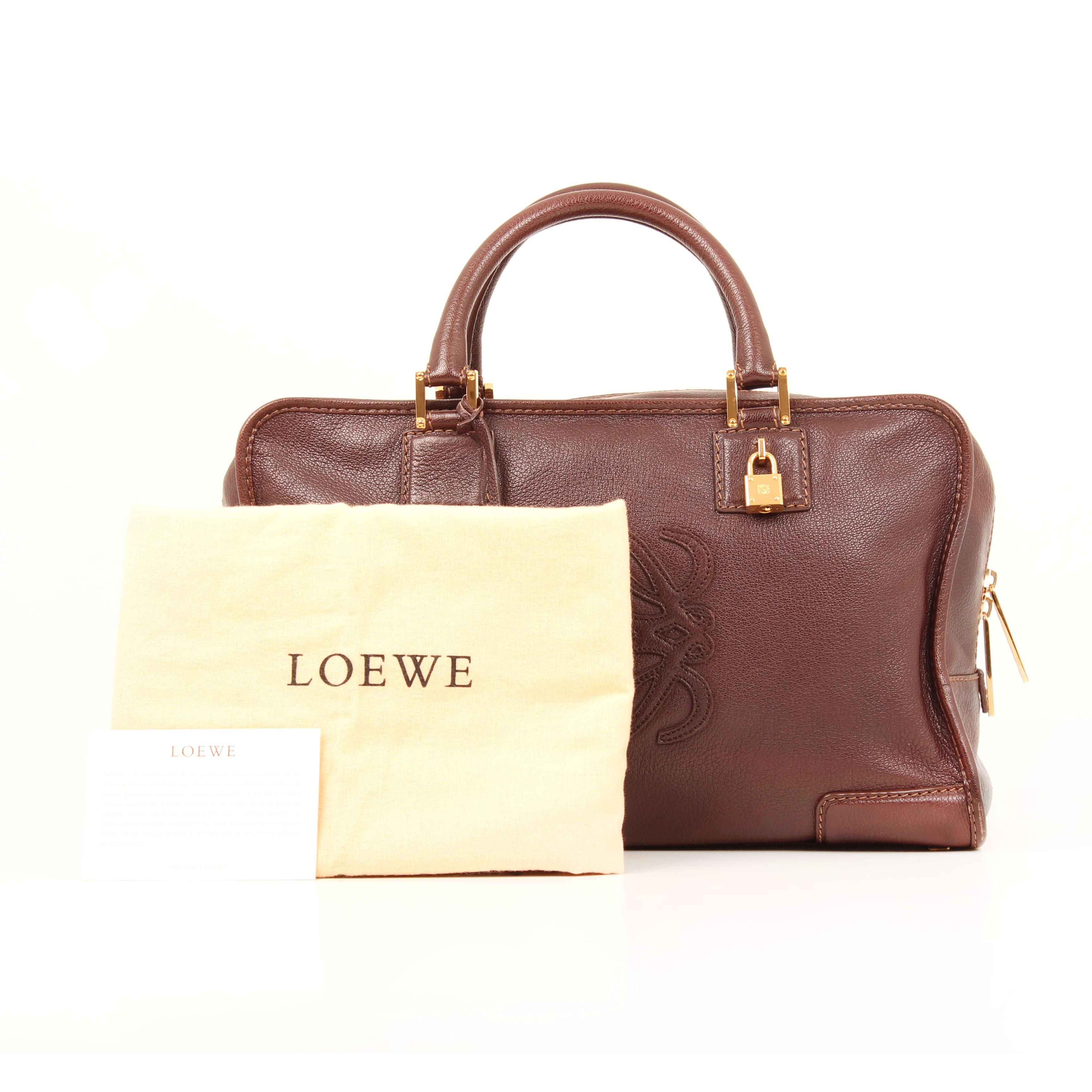 handbag loewe amazona 36 leather brown dustbag