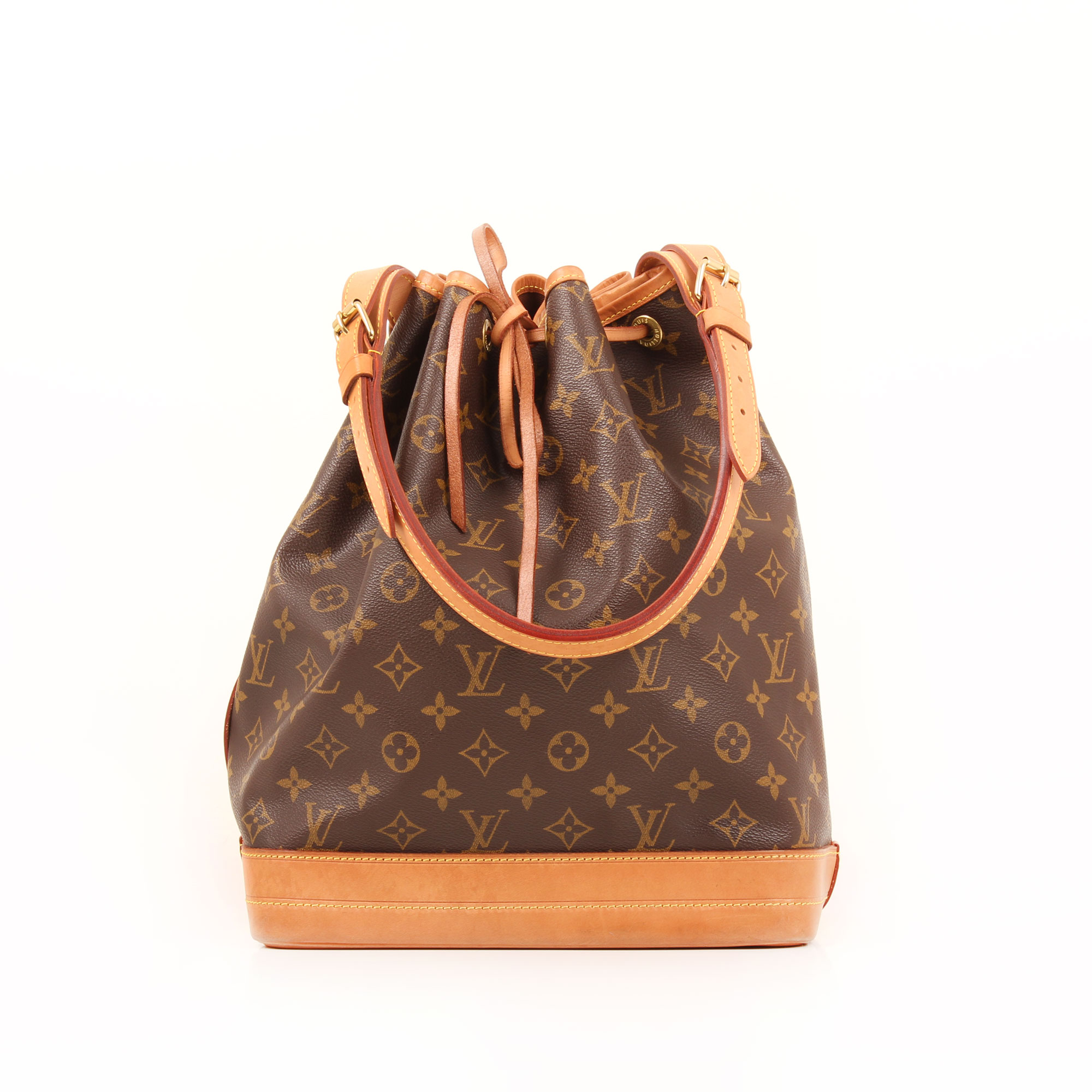 Front image of louis vuitton noe monogram bag