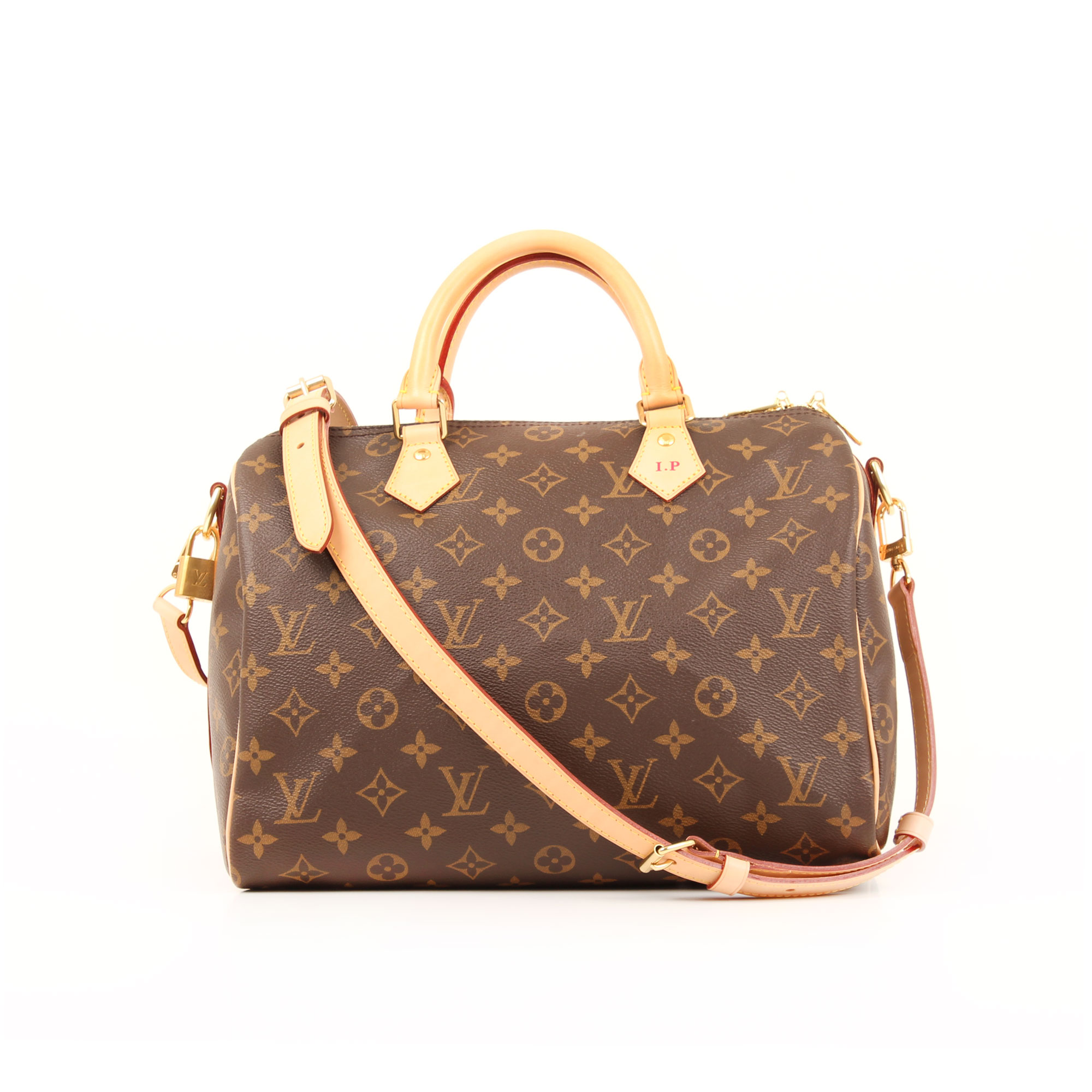 Front image of louis vuitton speedy 30 monogram bandouliere