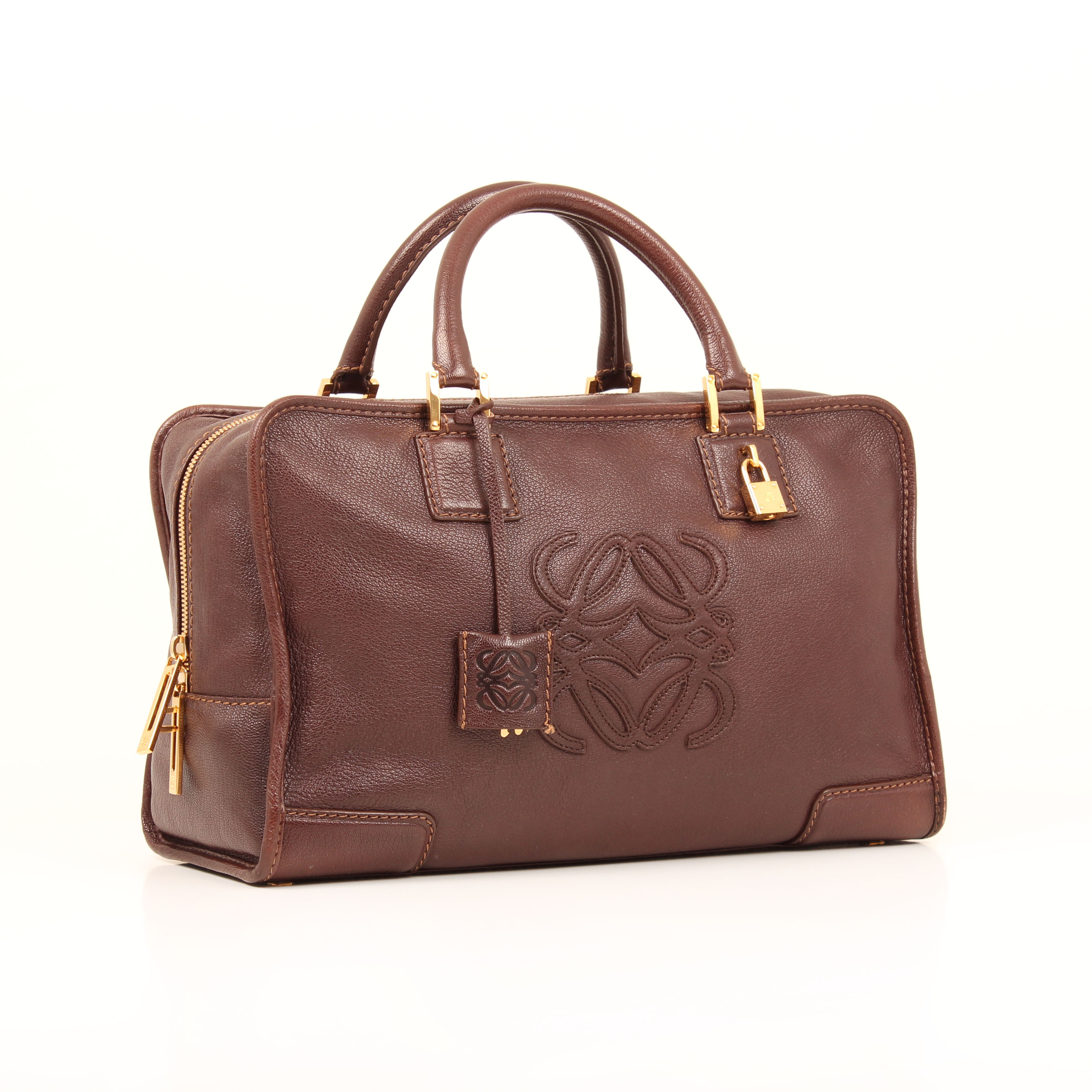 handbag loewe amazona 36 brown leather general