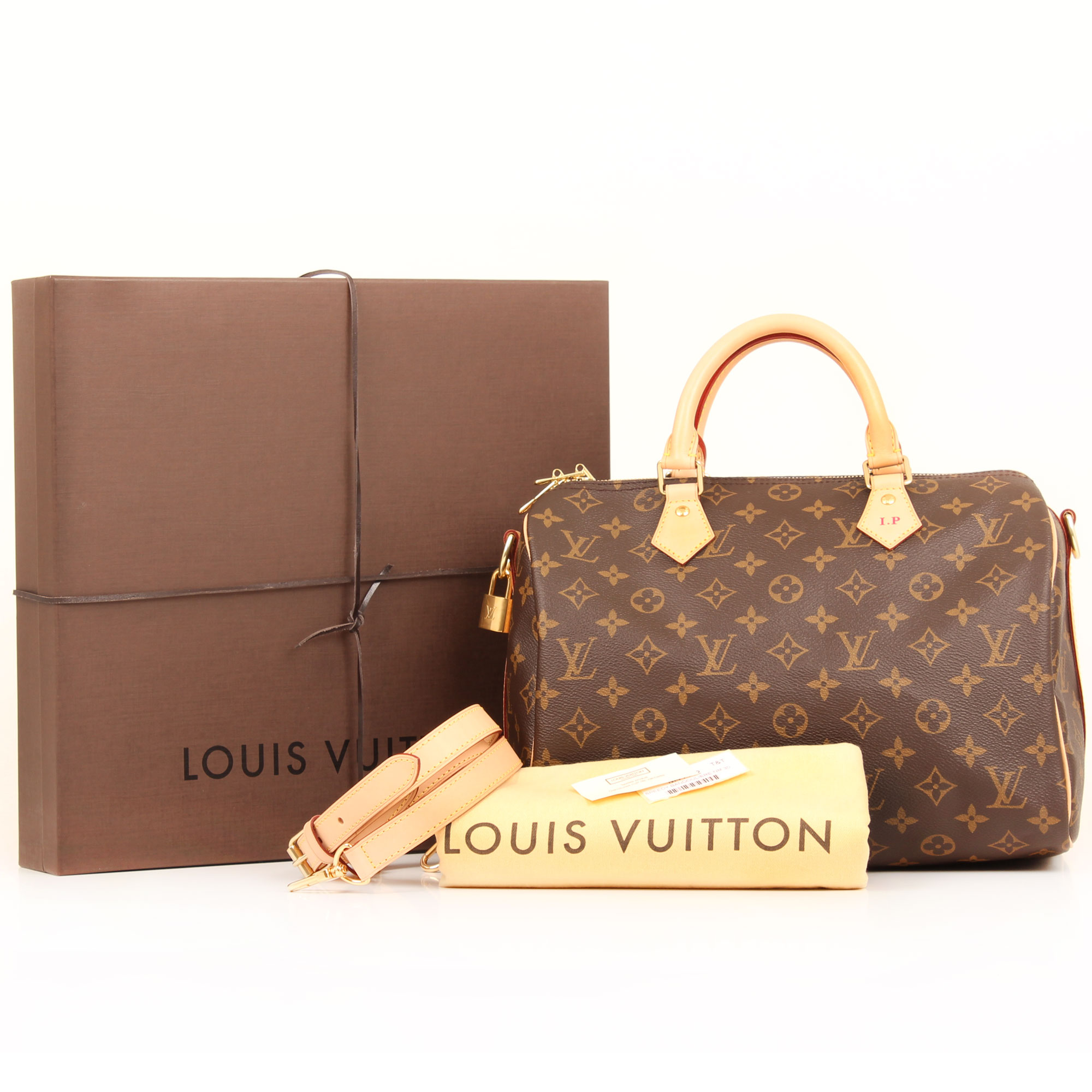 Extras image of louis vuitton speedy 30 monogram bandouliere