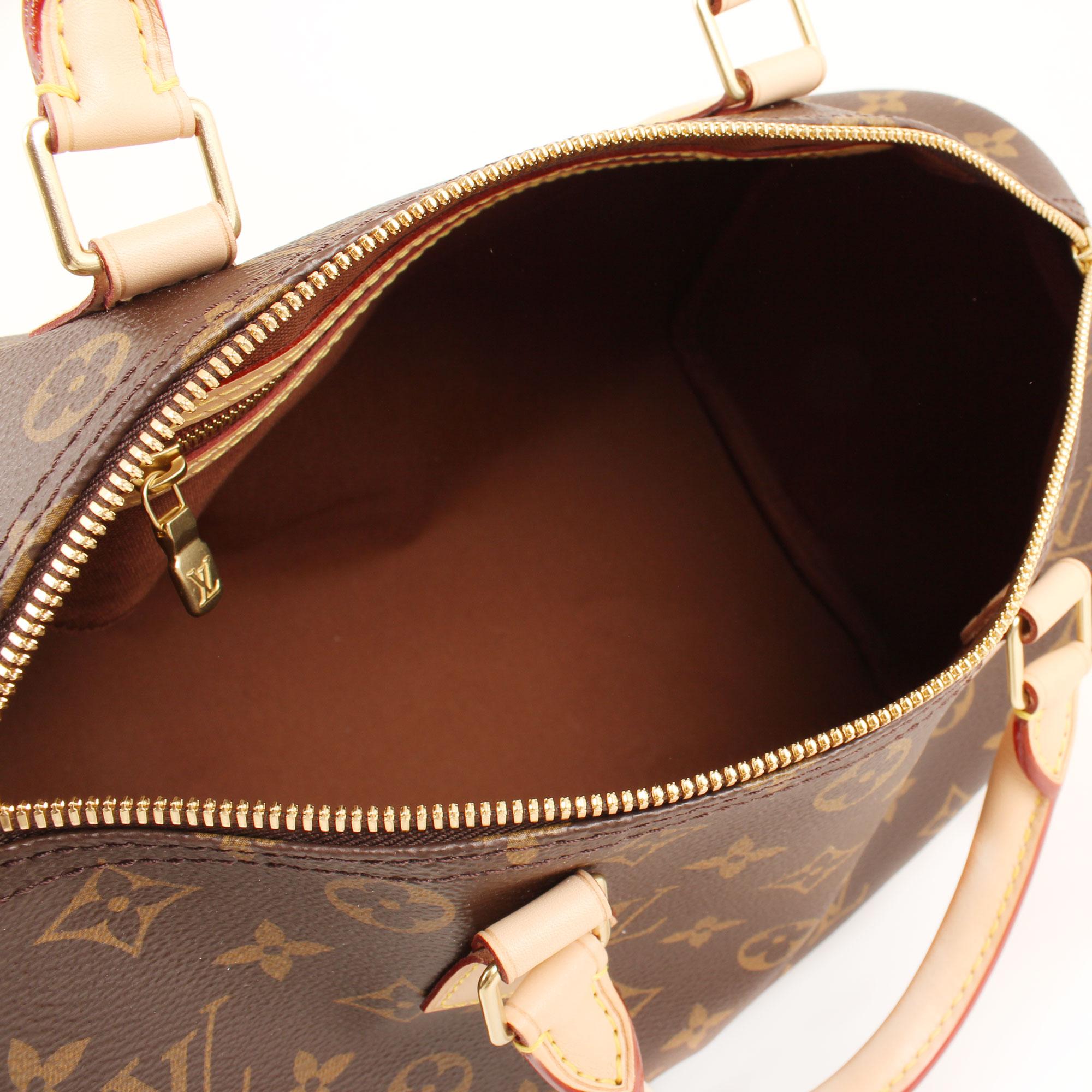 Imagen del interior del bolso louis vuitton speedy 30 monogram