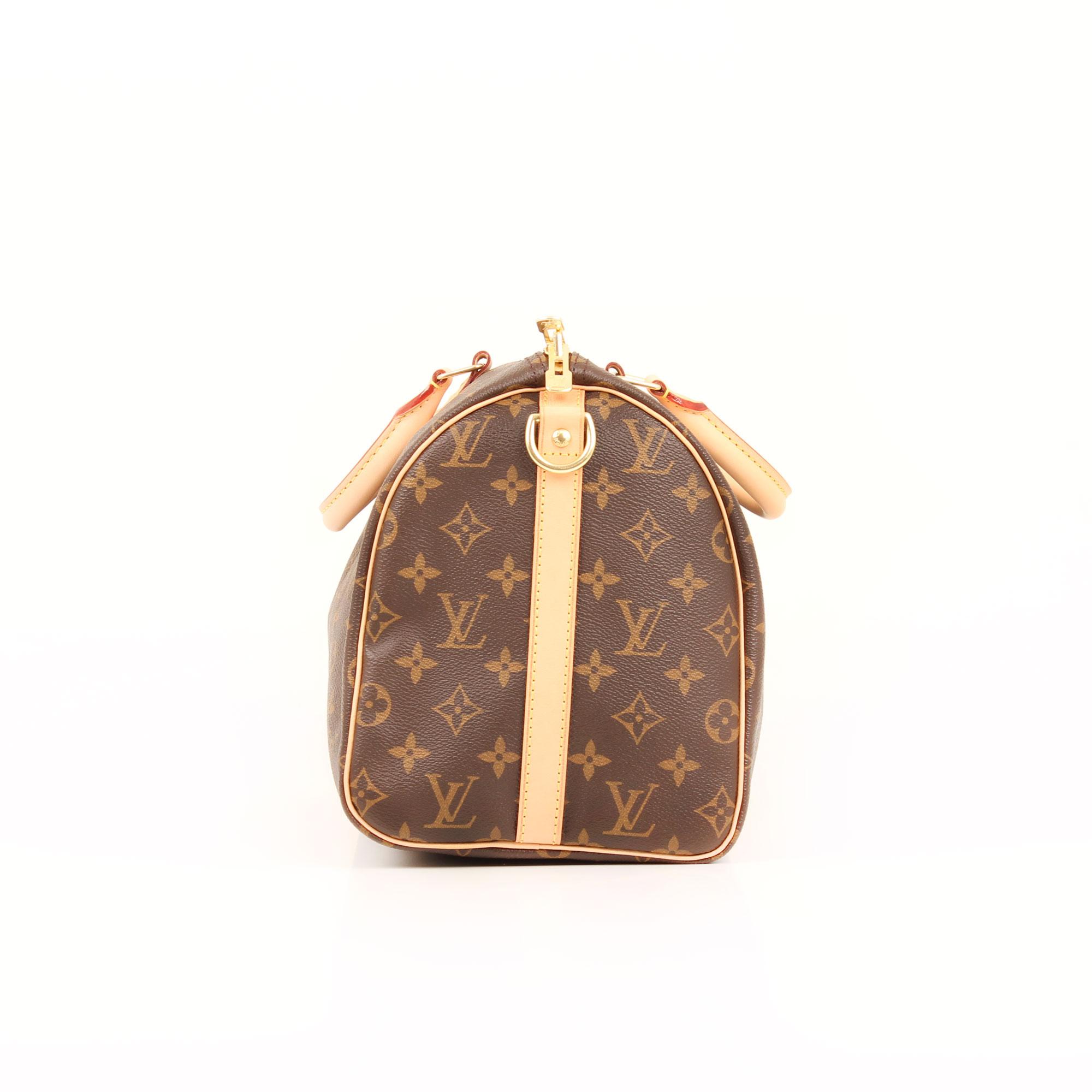 Imagen del lado del bolso louis vuitton speedy 30 monogram bandolera f3dd6c86f5d36