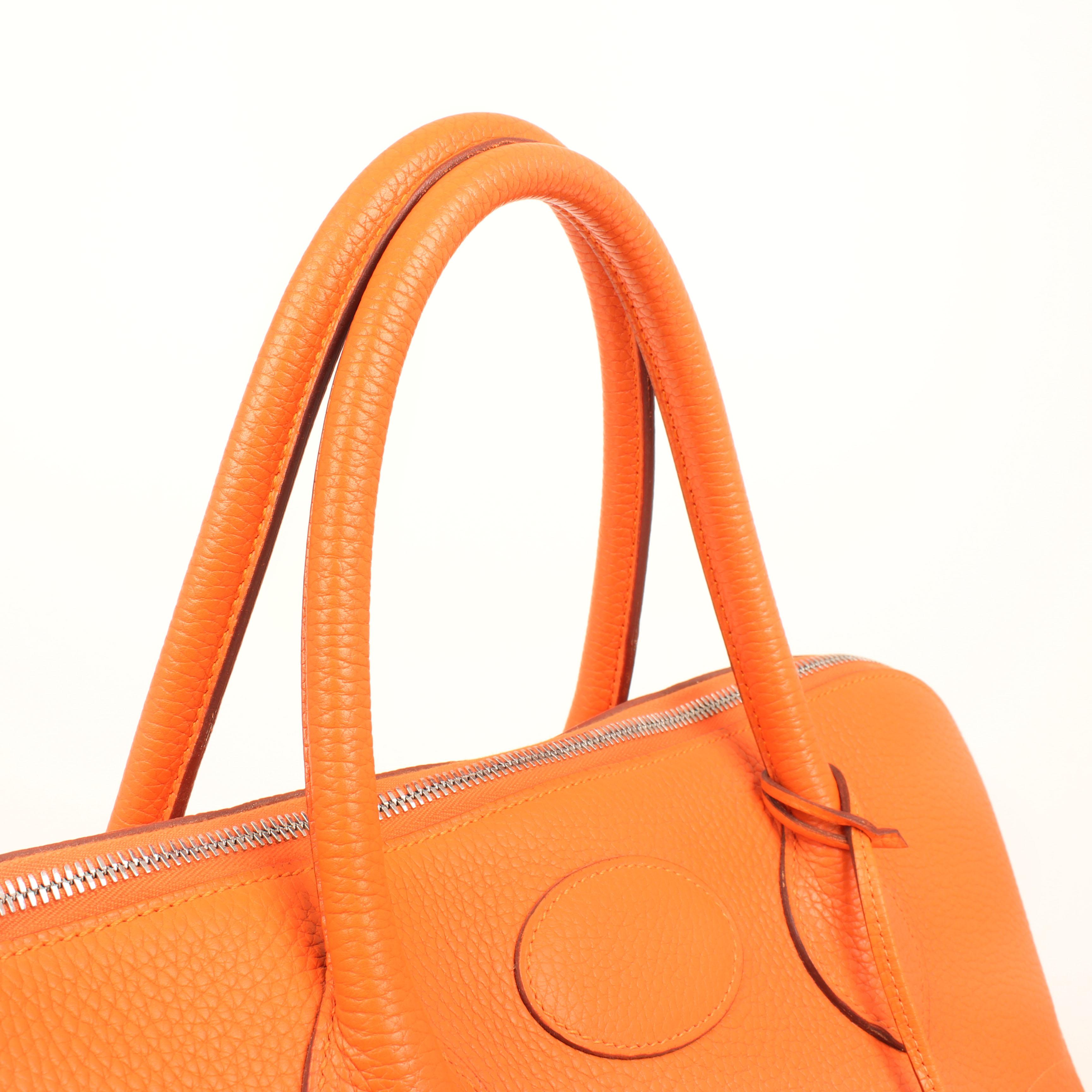 bolsa de viaje hermes bolide 45 piel togo naranja asas