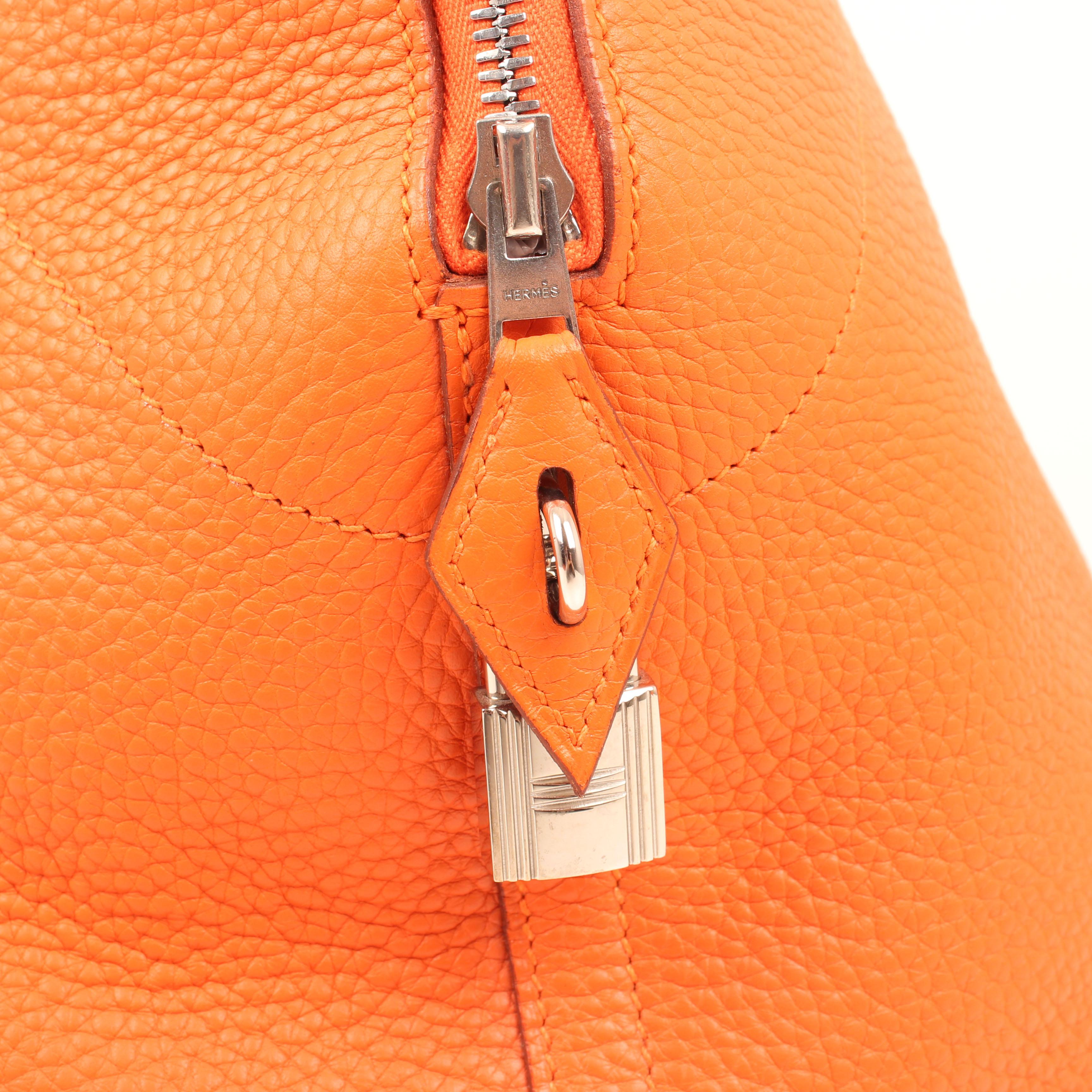 bolsa de viaje hermes bolide 45 piel togo naranja candado