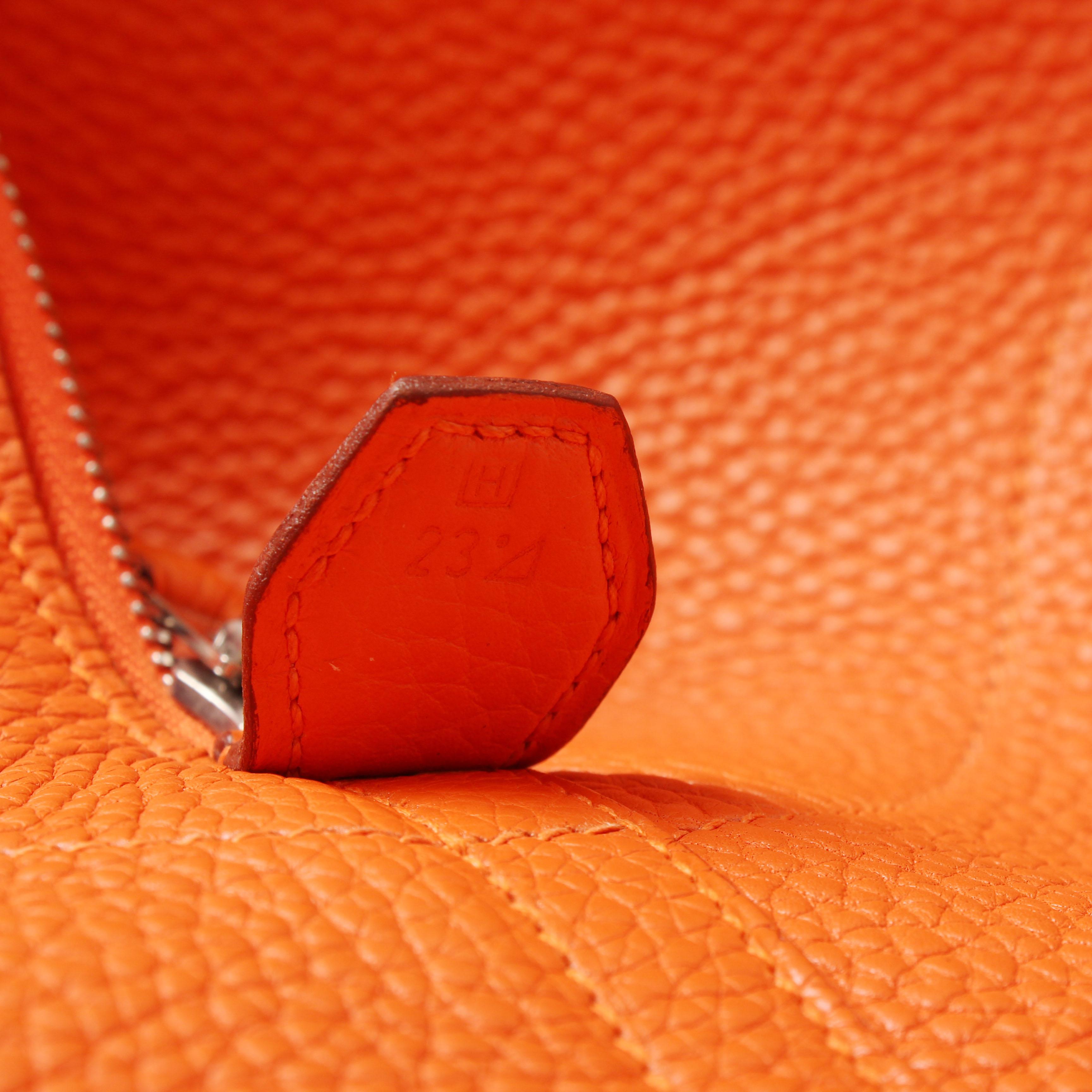 bolsa de viaje hermes bolide 45 piel togo naranja serial