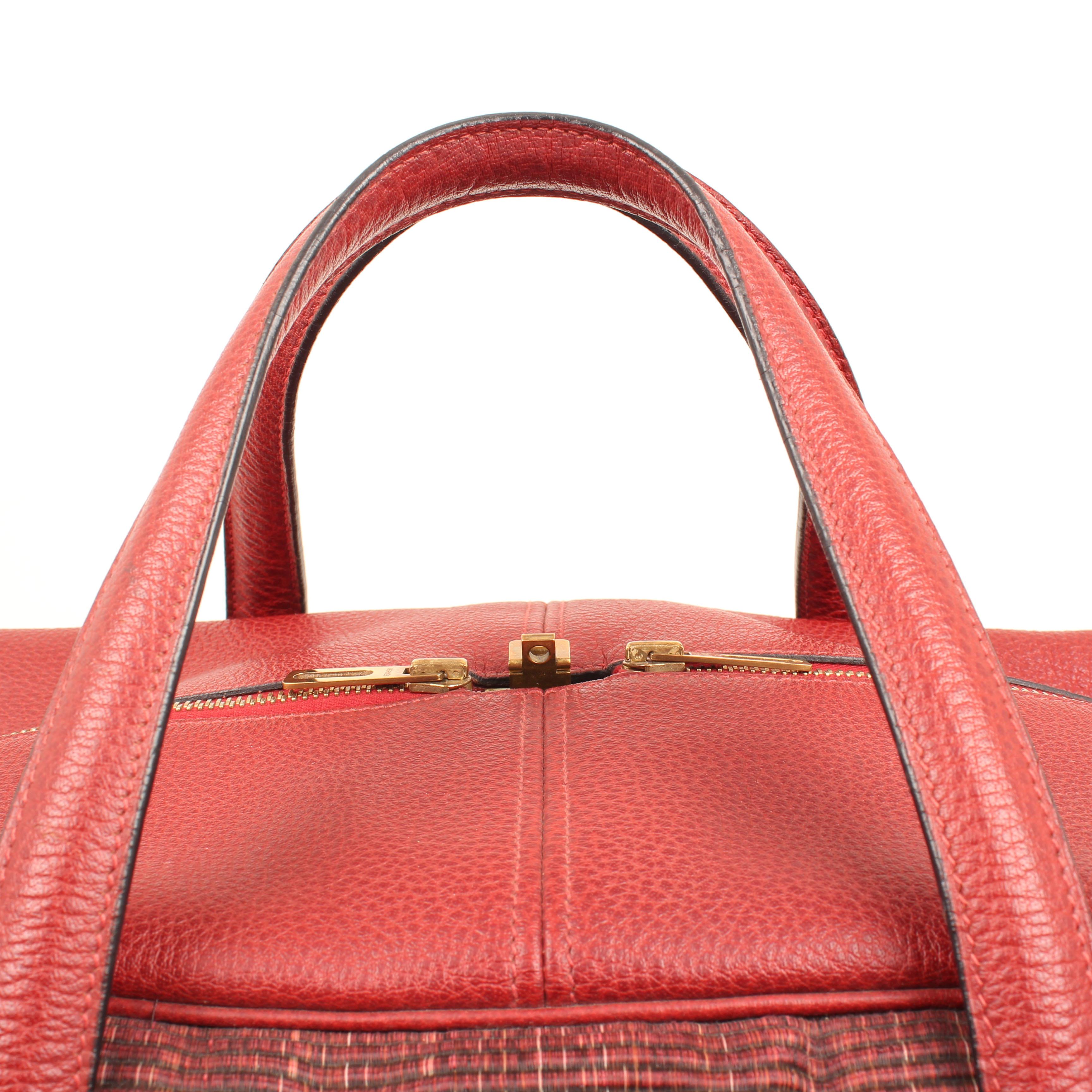 bolsa de viaje hermes victoria II piel bufalo crinolina rouge asas