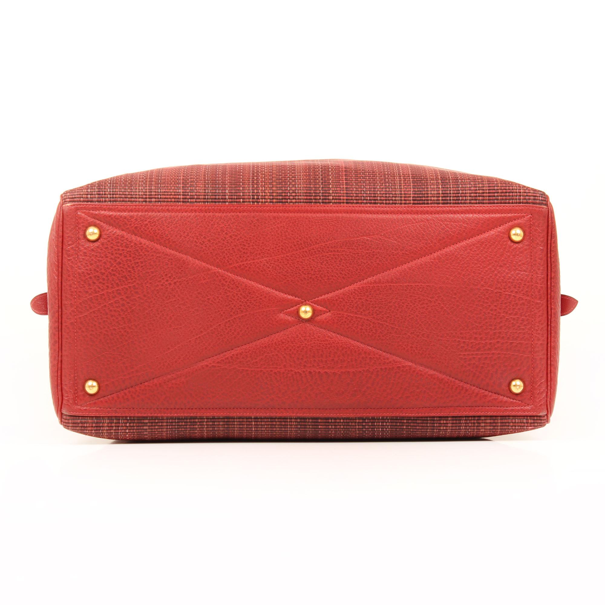 bolsa de viaje victoria II piel de bufalo crinolina rouge base