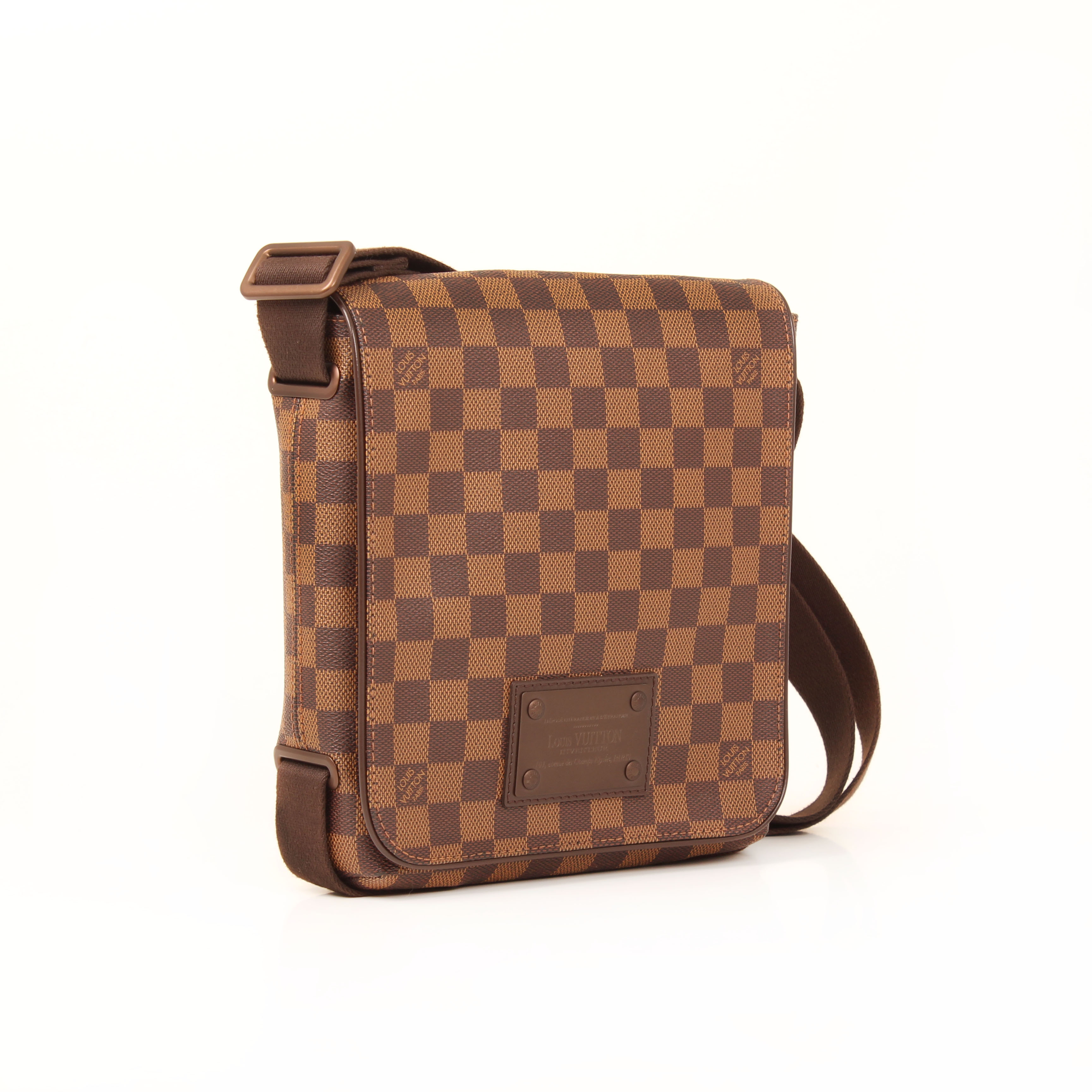 messenger bag louis vuitton brooklyn damier pm ebene side