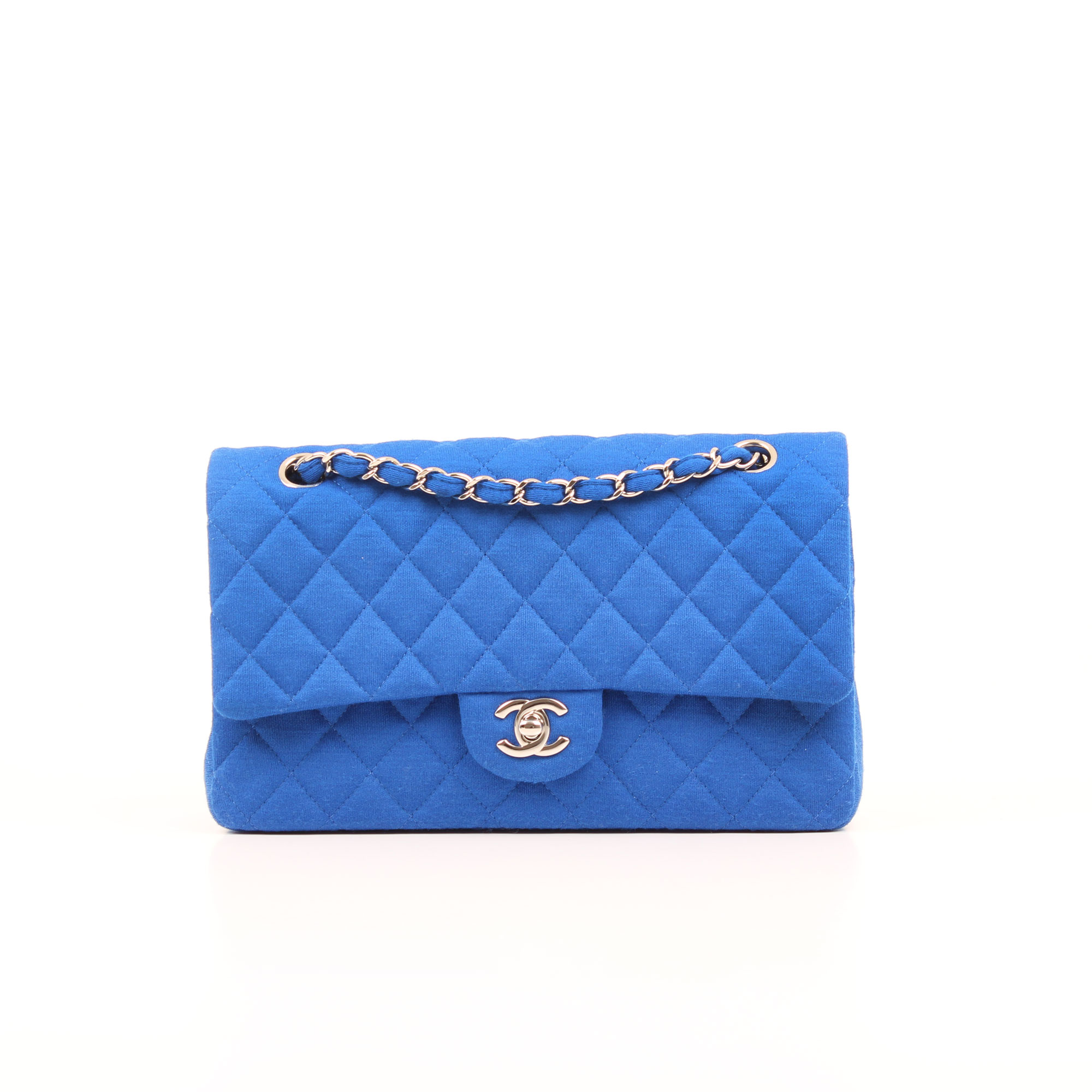 24dd45727e1b Jersey Quilted Timeless Double Flap Blue | CBL Bags