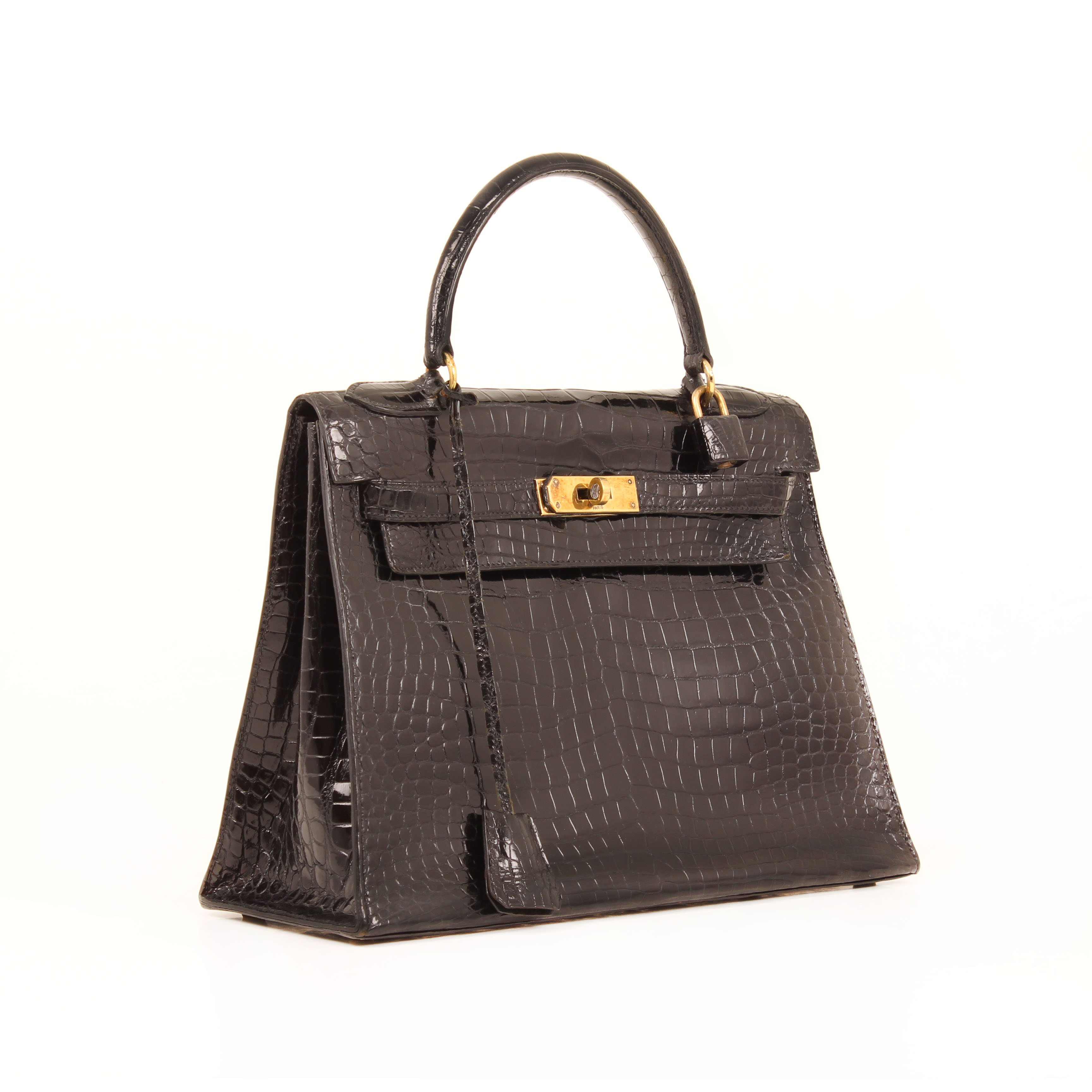 6e81a57e59b8 Hermès Bag Kelly 28 Sellier Croco Vintage. handbag hermes kelly 32 gold  sellier leather ...
