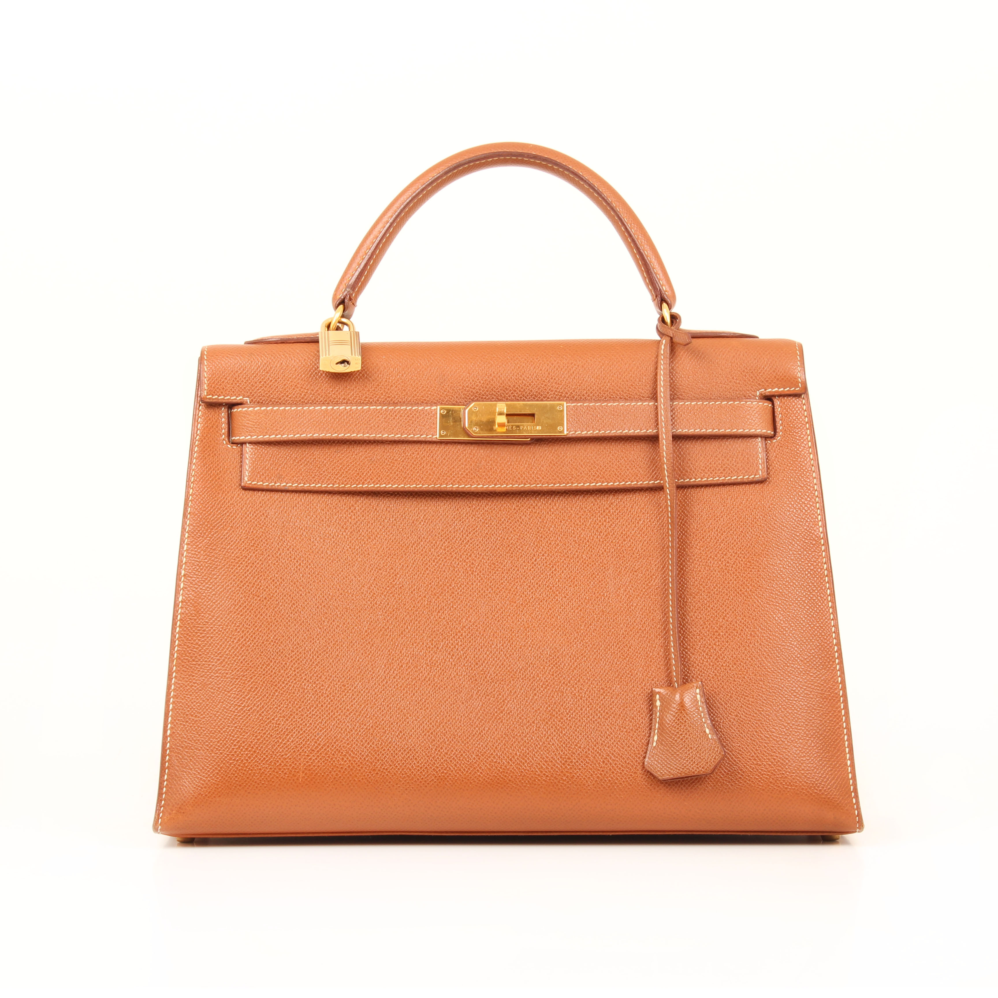 bolso hermes kelly 32 gold sellier piel epsom frontal