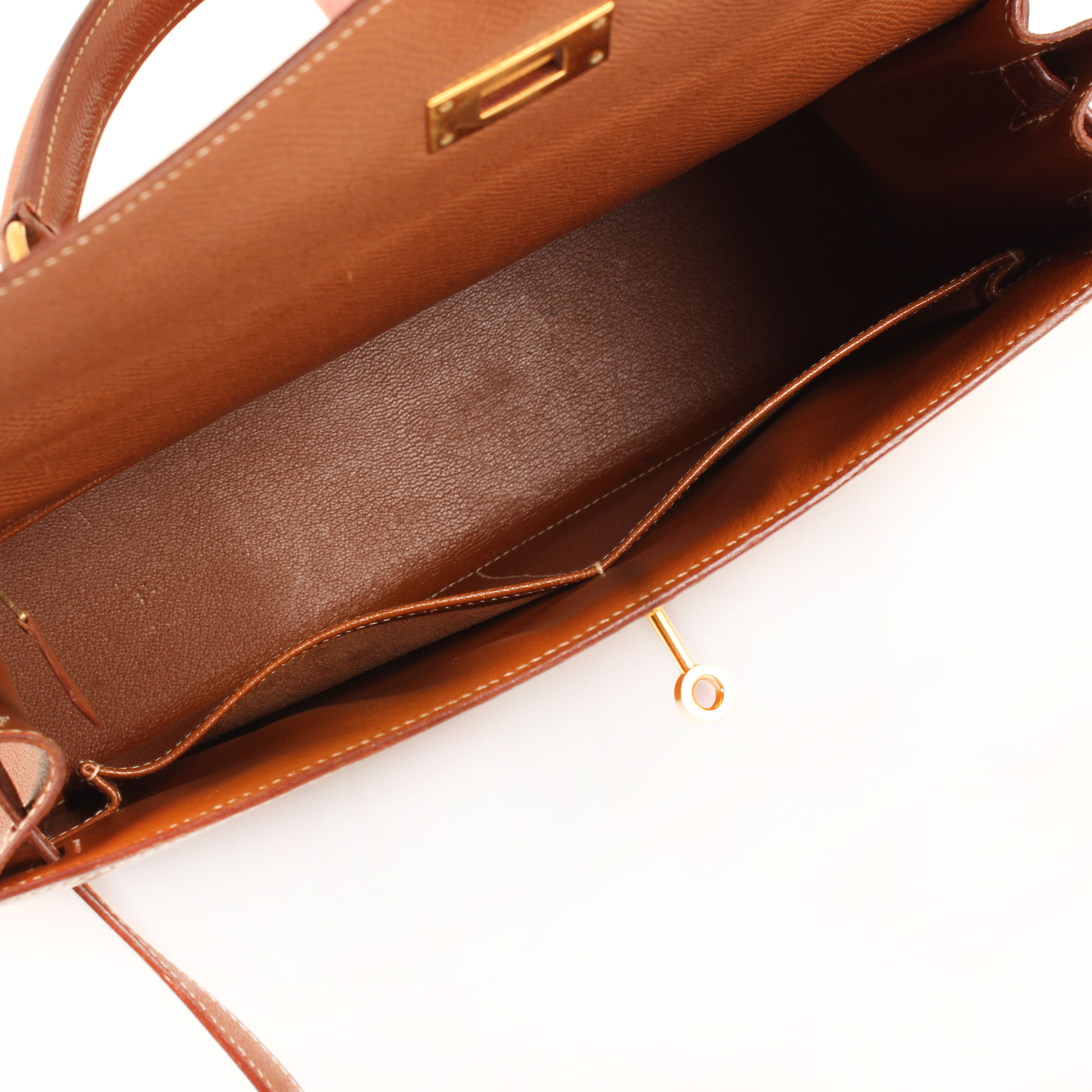 bolso hermes kelly 32 gold sellier piel epsom interior