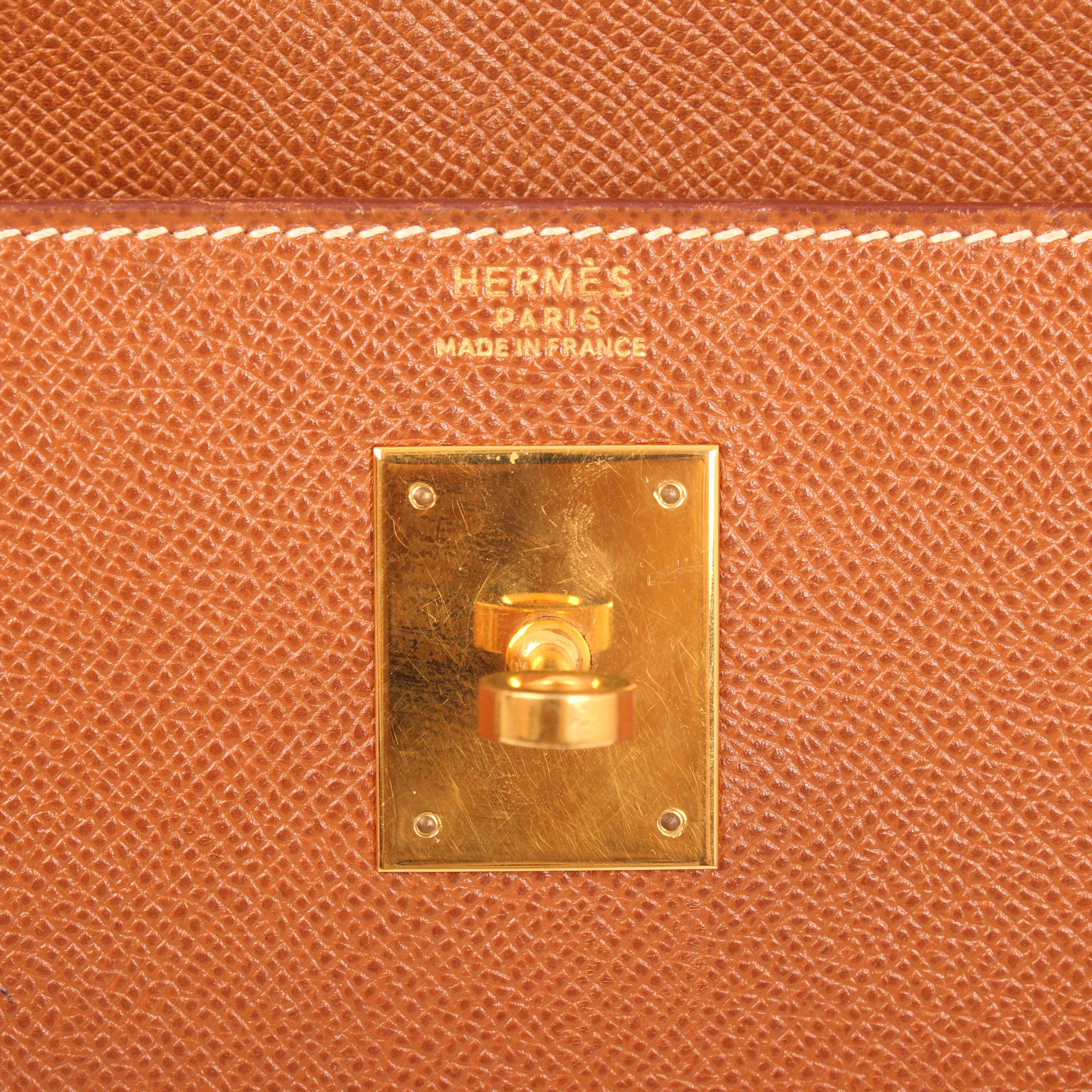 bolso hermes kelly 32 gold sellier piel epsom marca
