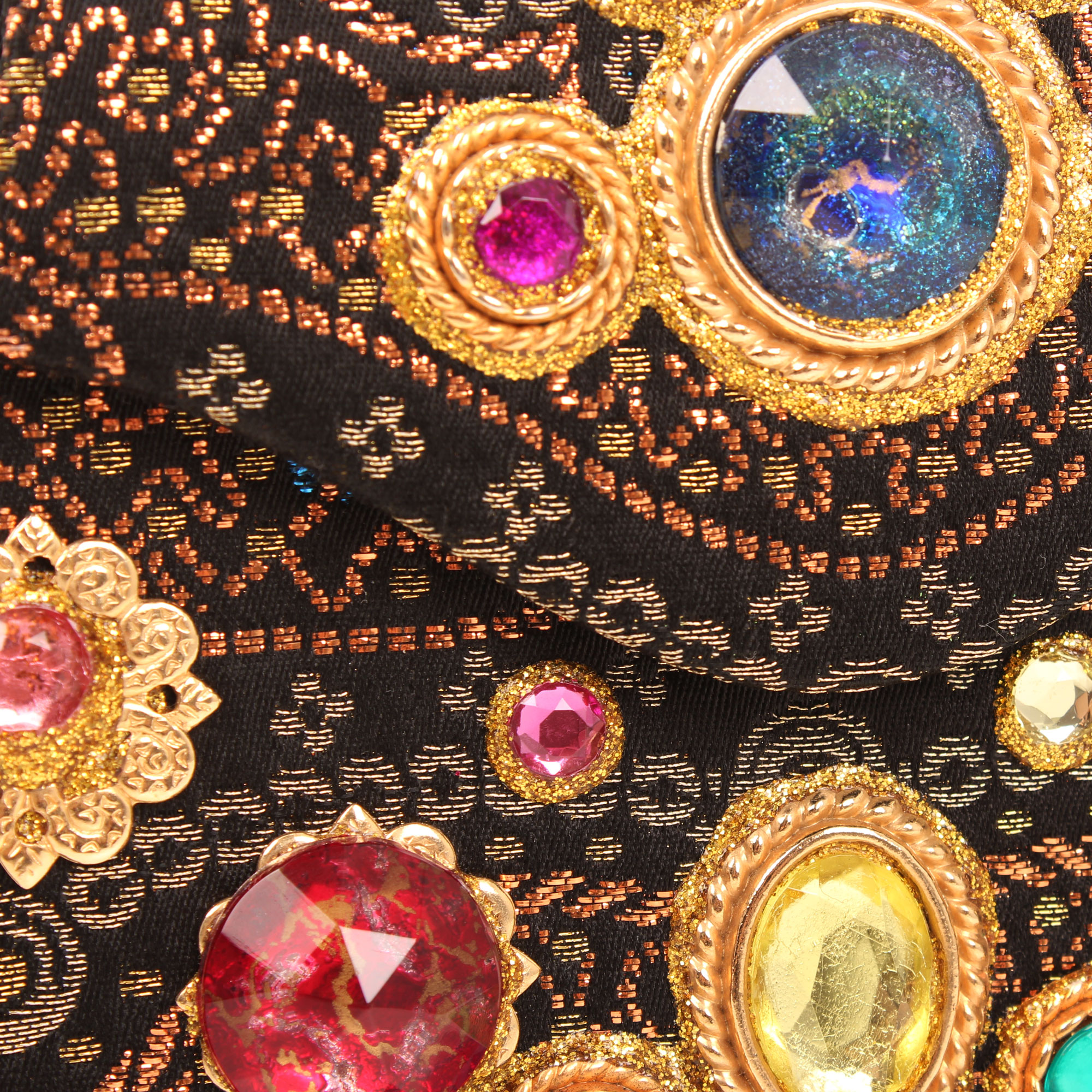 Front detailed image of christian lacroix vintage embellishment evening bag front