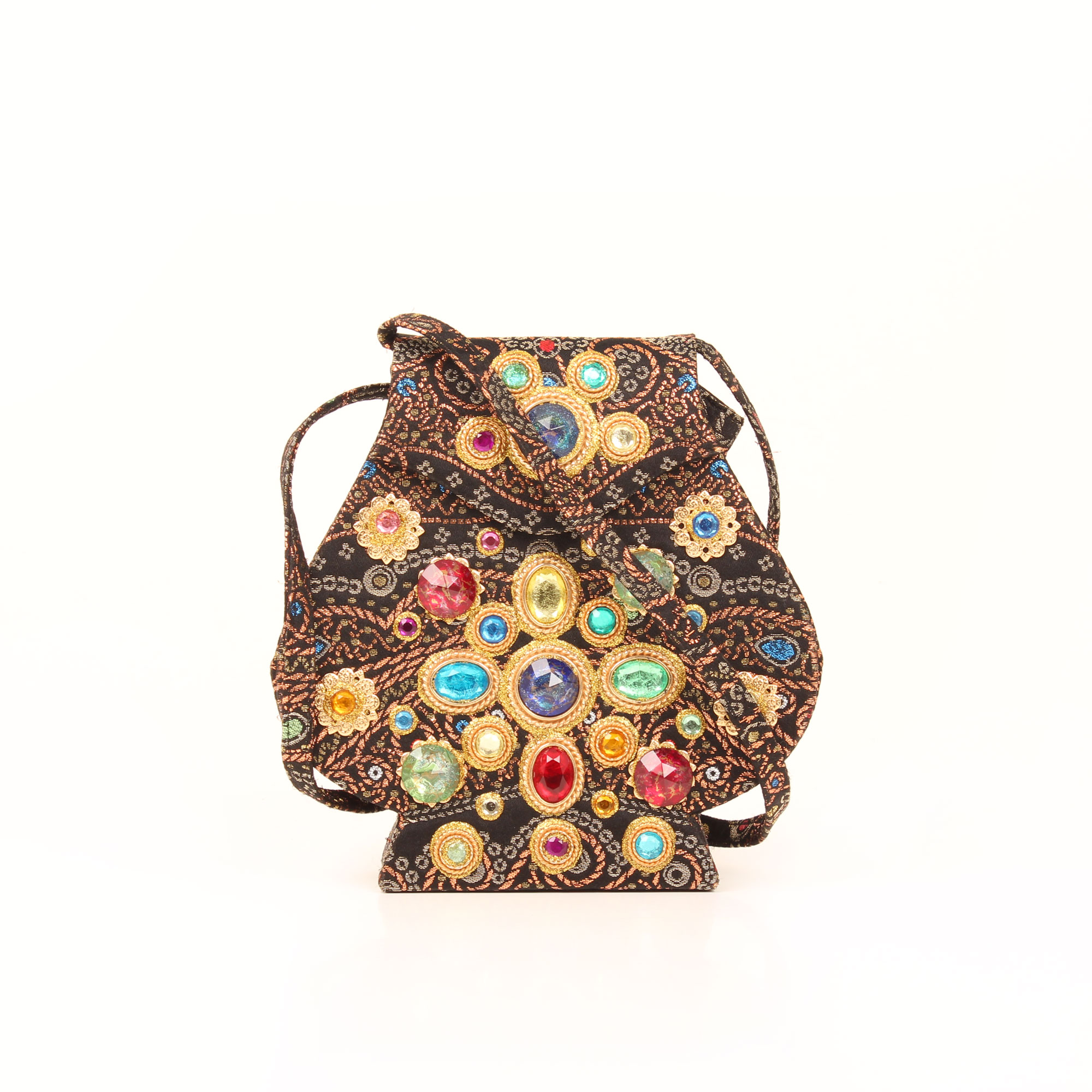 Front image of christian lacroix vintage embellishment evening bag