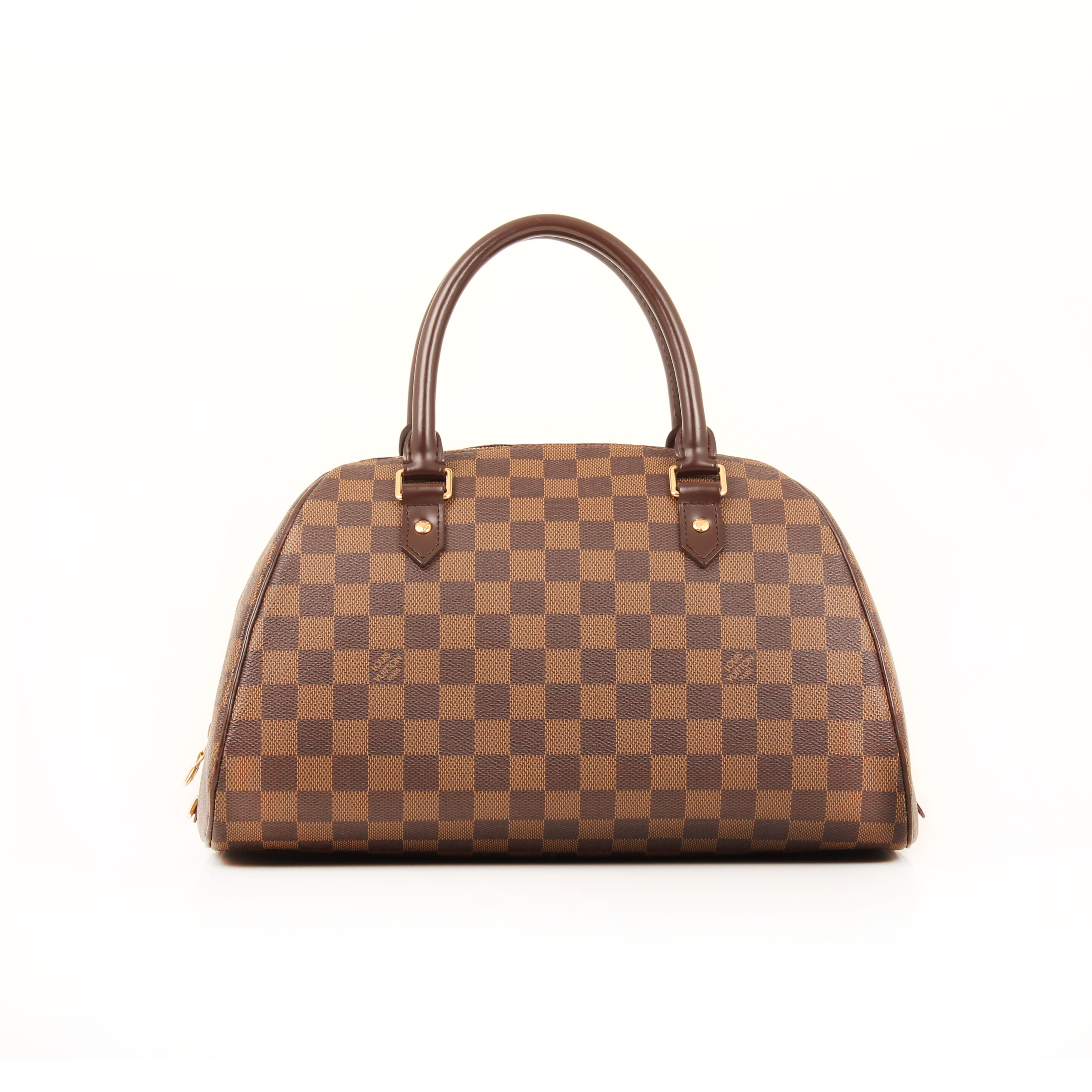 handbag louis vuitton ribera mm damier ebene front