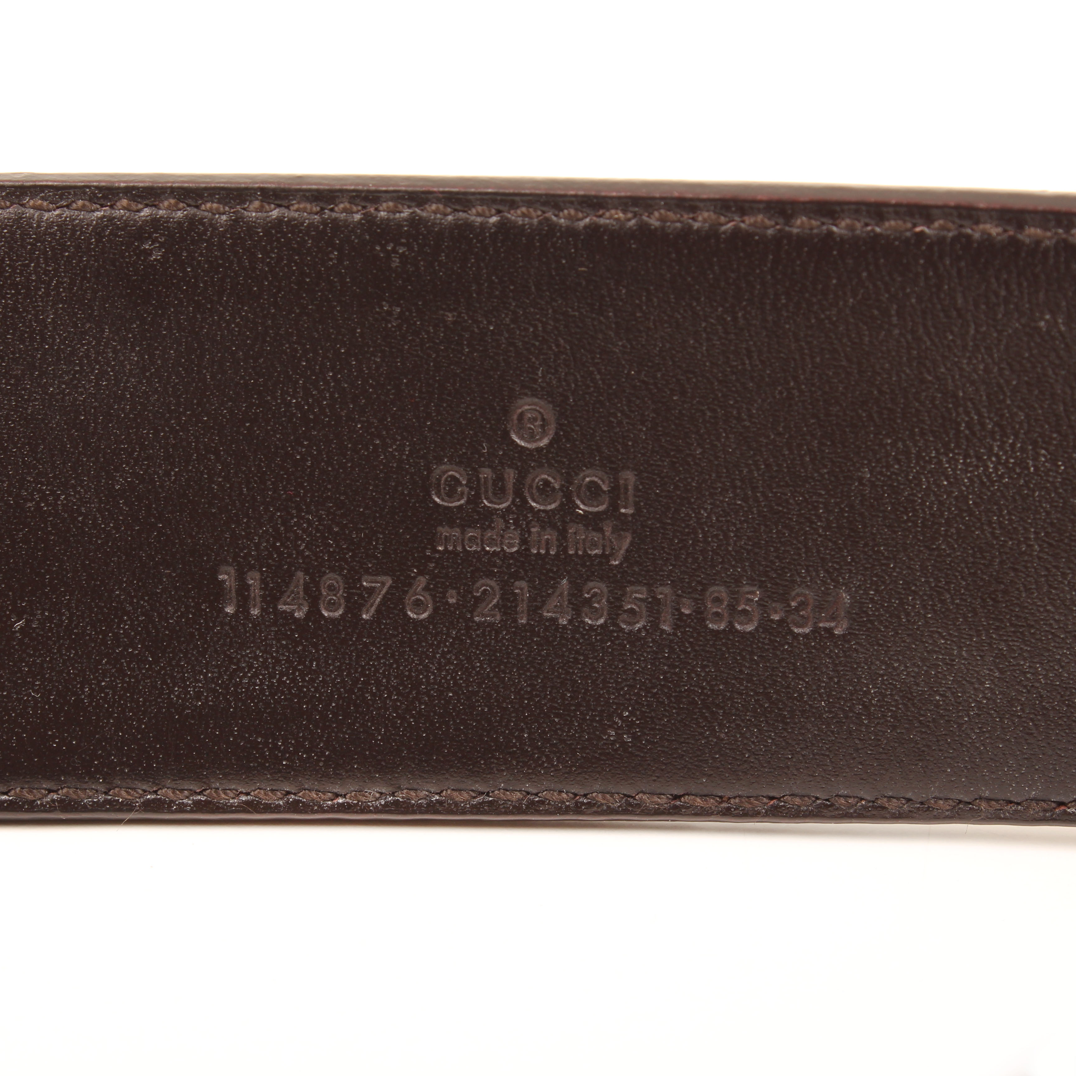 belt gucci gg canvas leather buckle serial