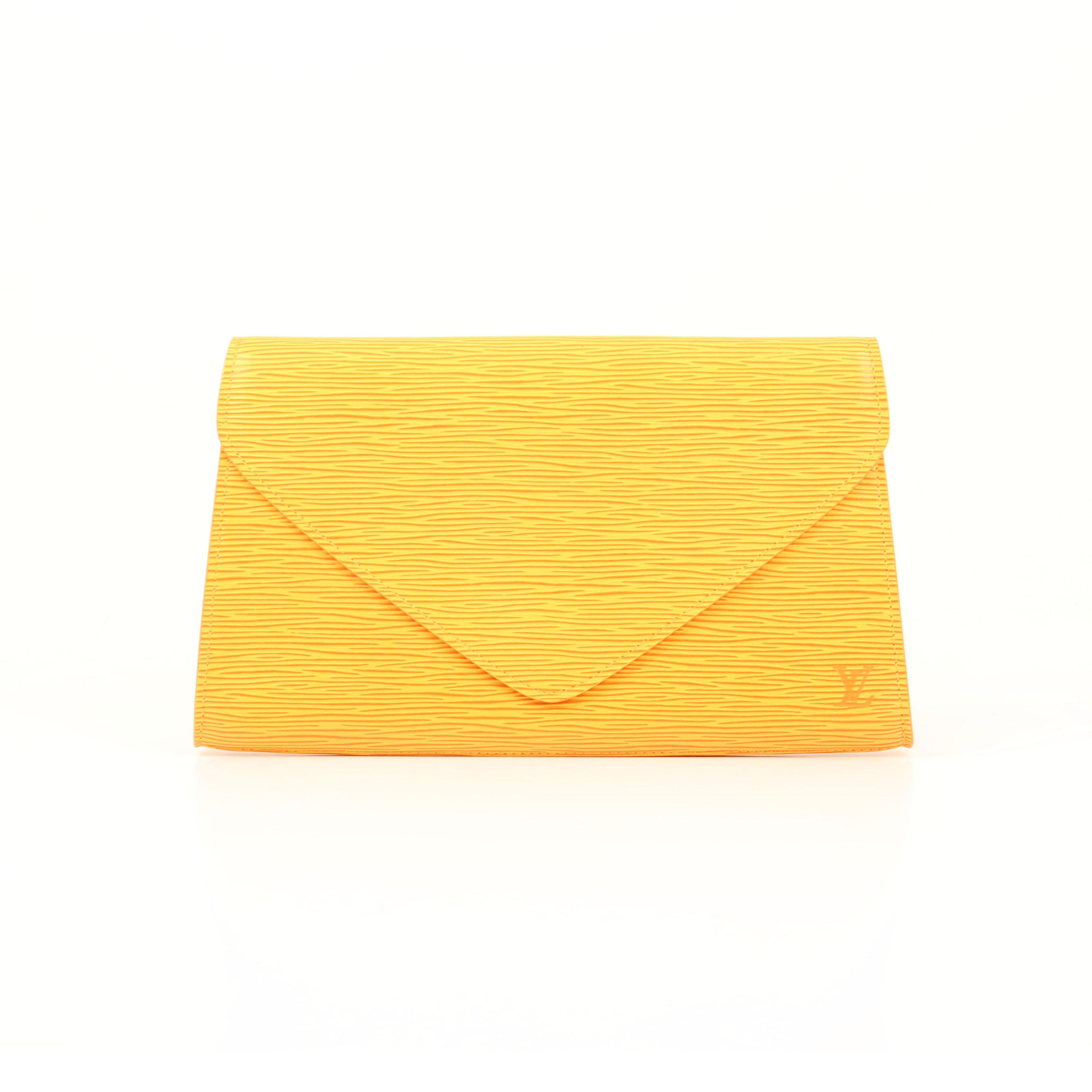 clutch louis vuitton vintage epi yellow