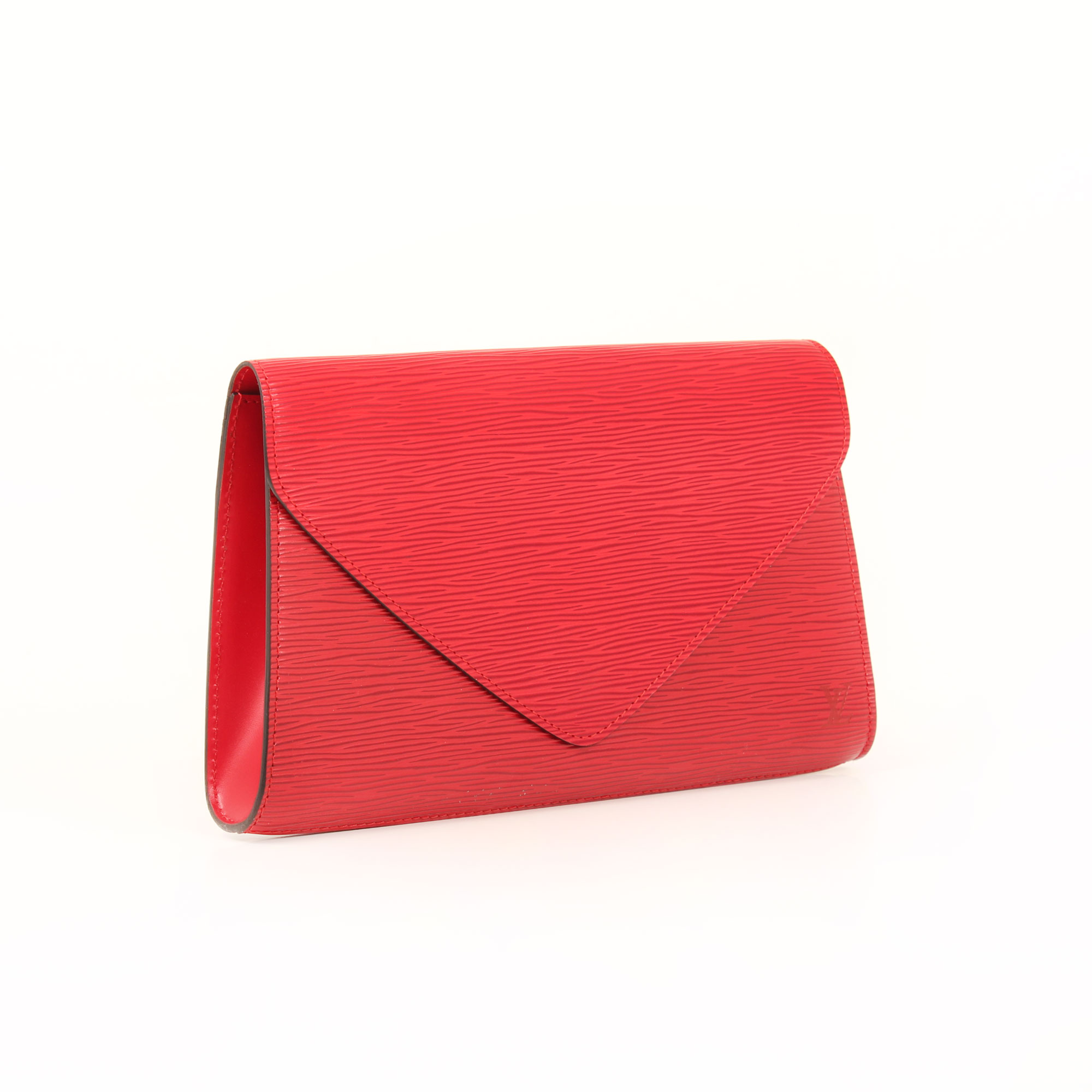 General 2 image of louis vuitton vintage red epi clutch