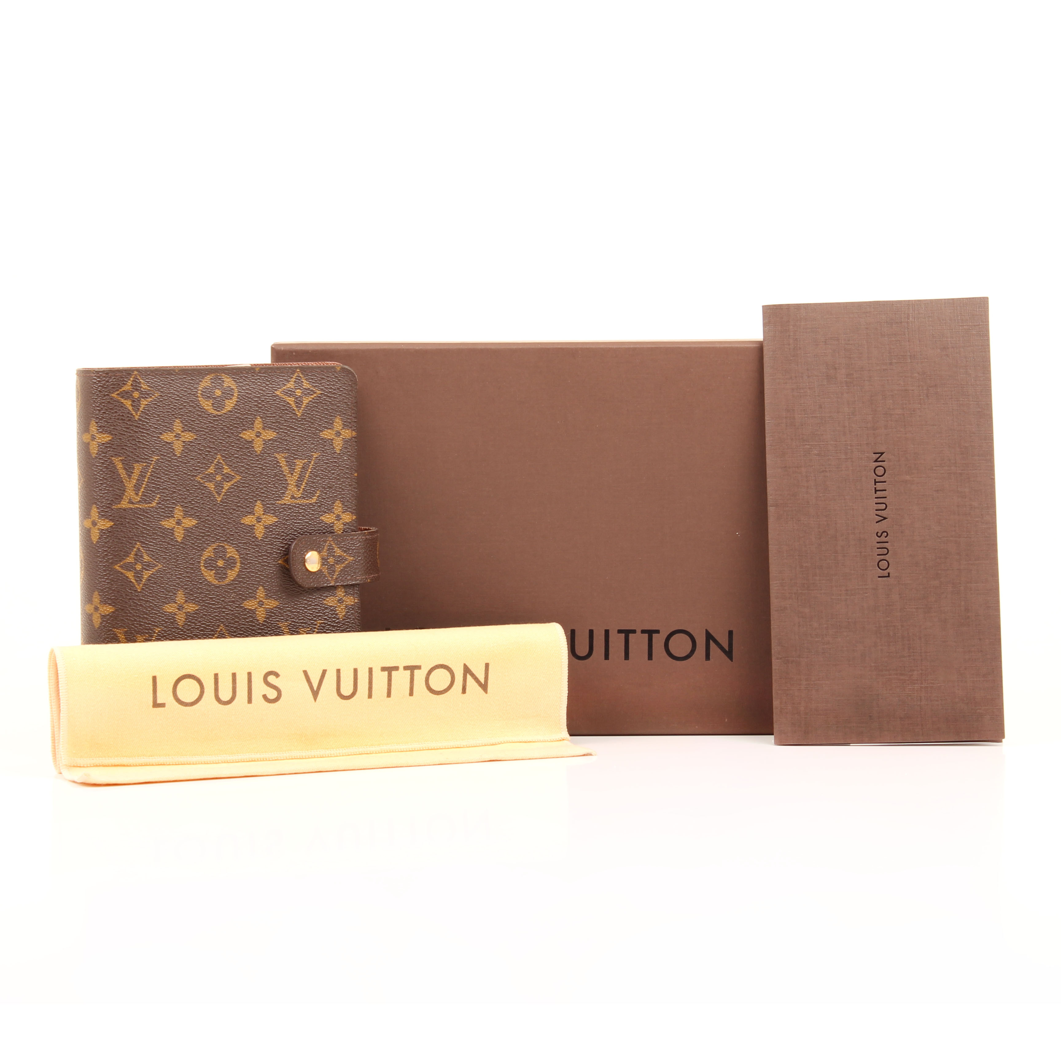 louis vuitton agenda cover medium ring monogram box dustbag
