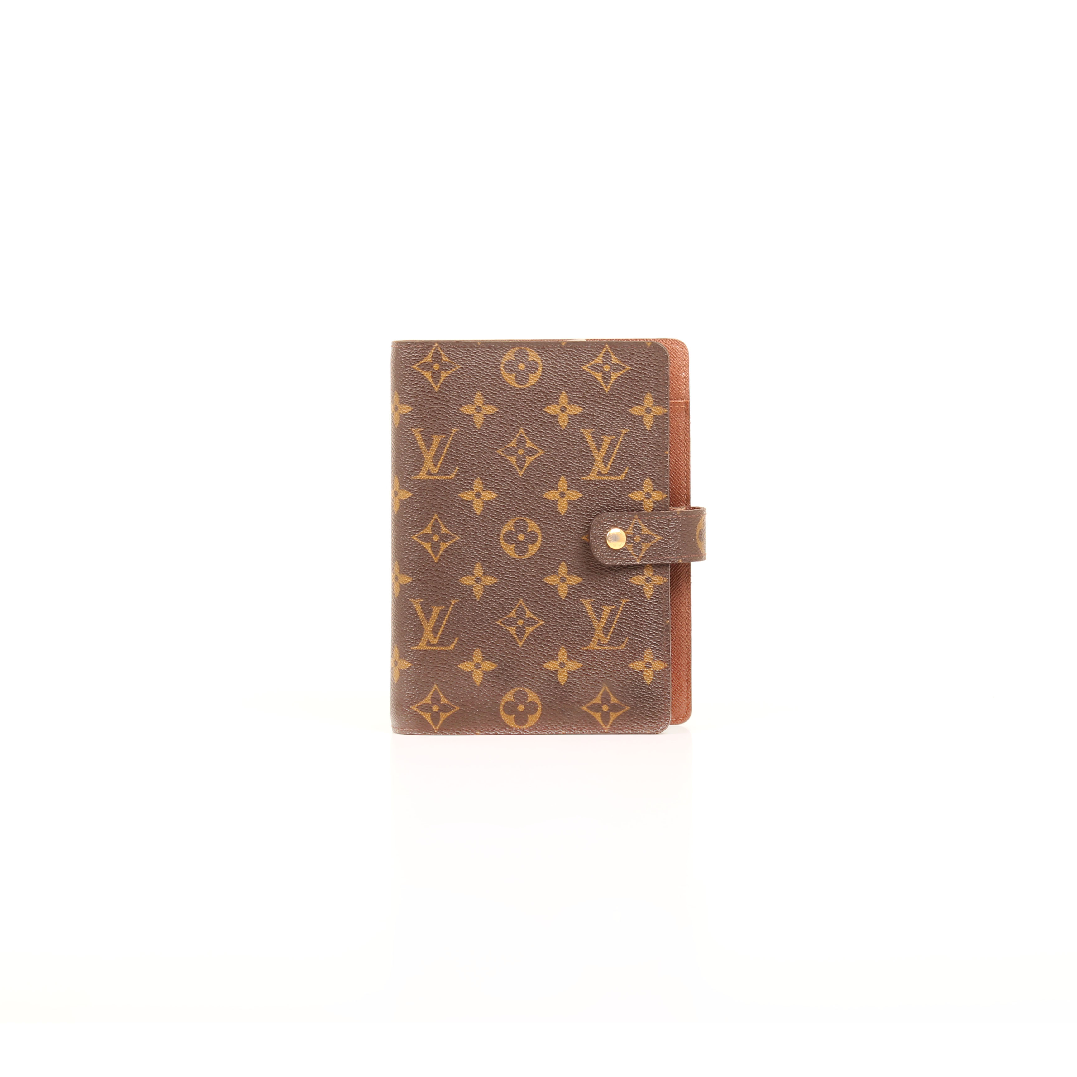 louis vuitton agenda cover medium ring monogram front
