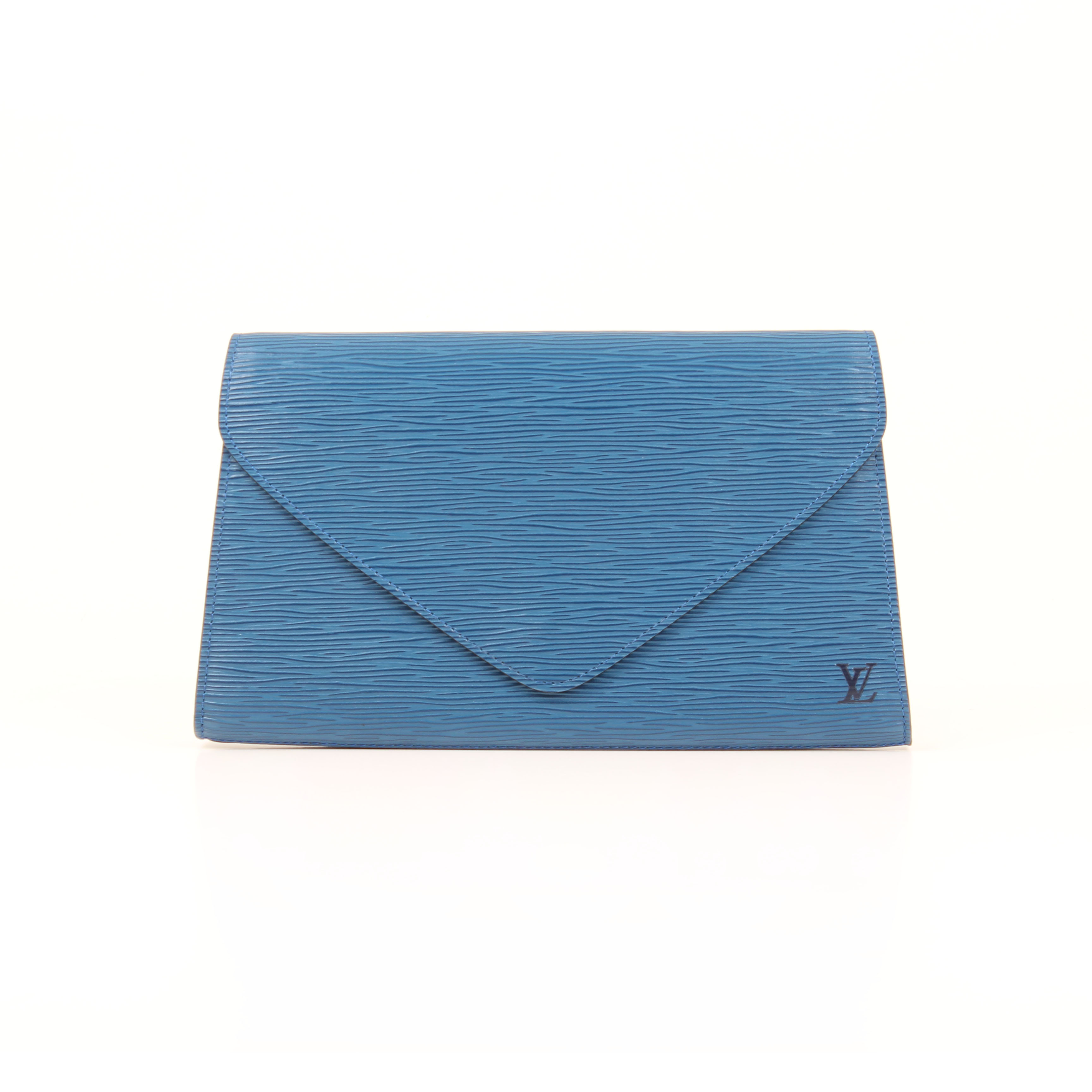 louis vuitton clutch vintage epi azul