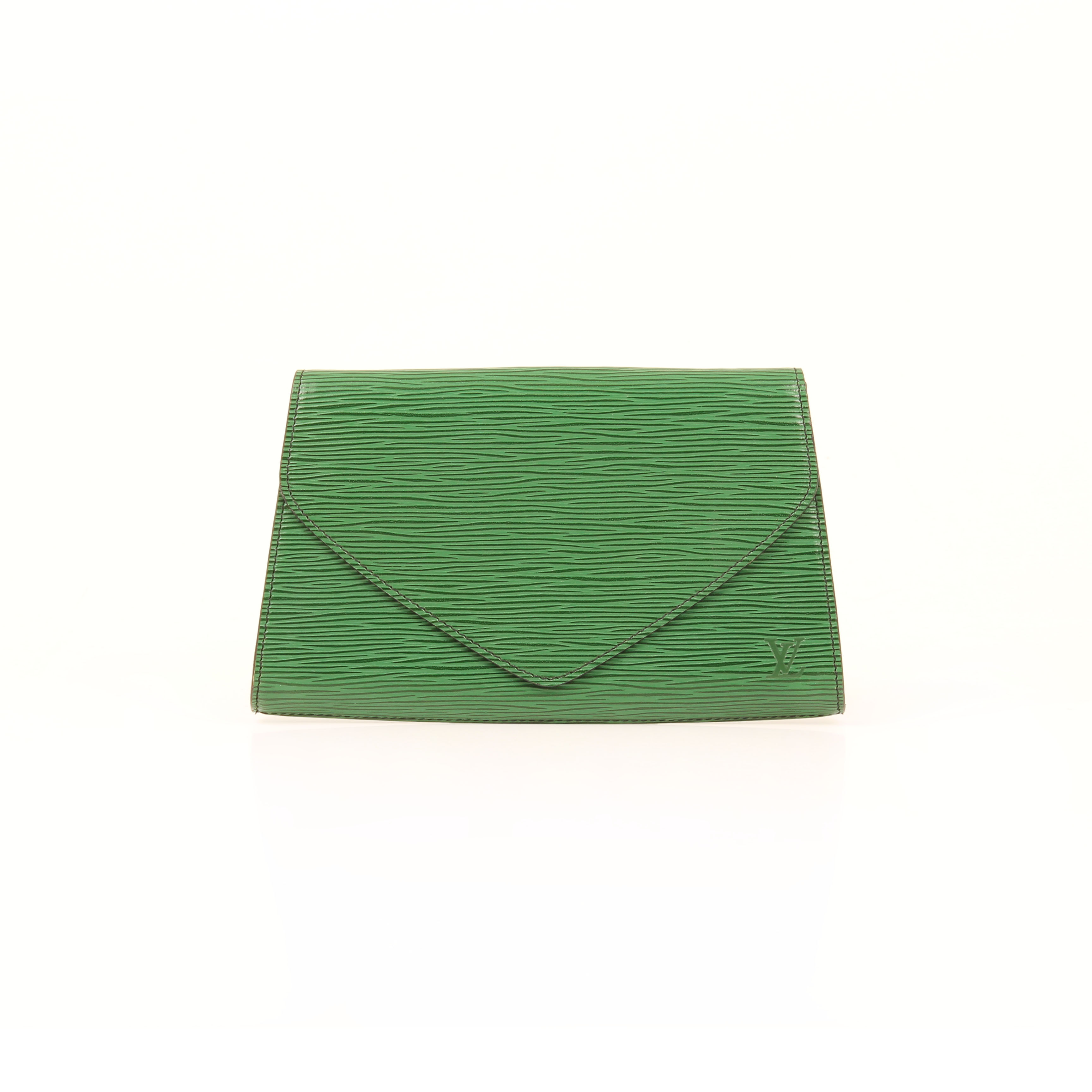 louis vuitton clutch vintage epi verde