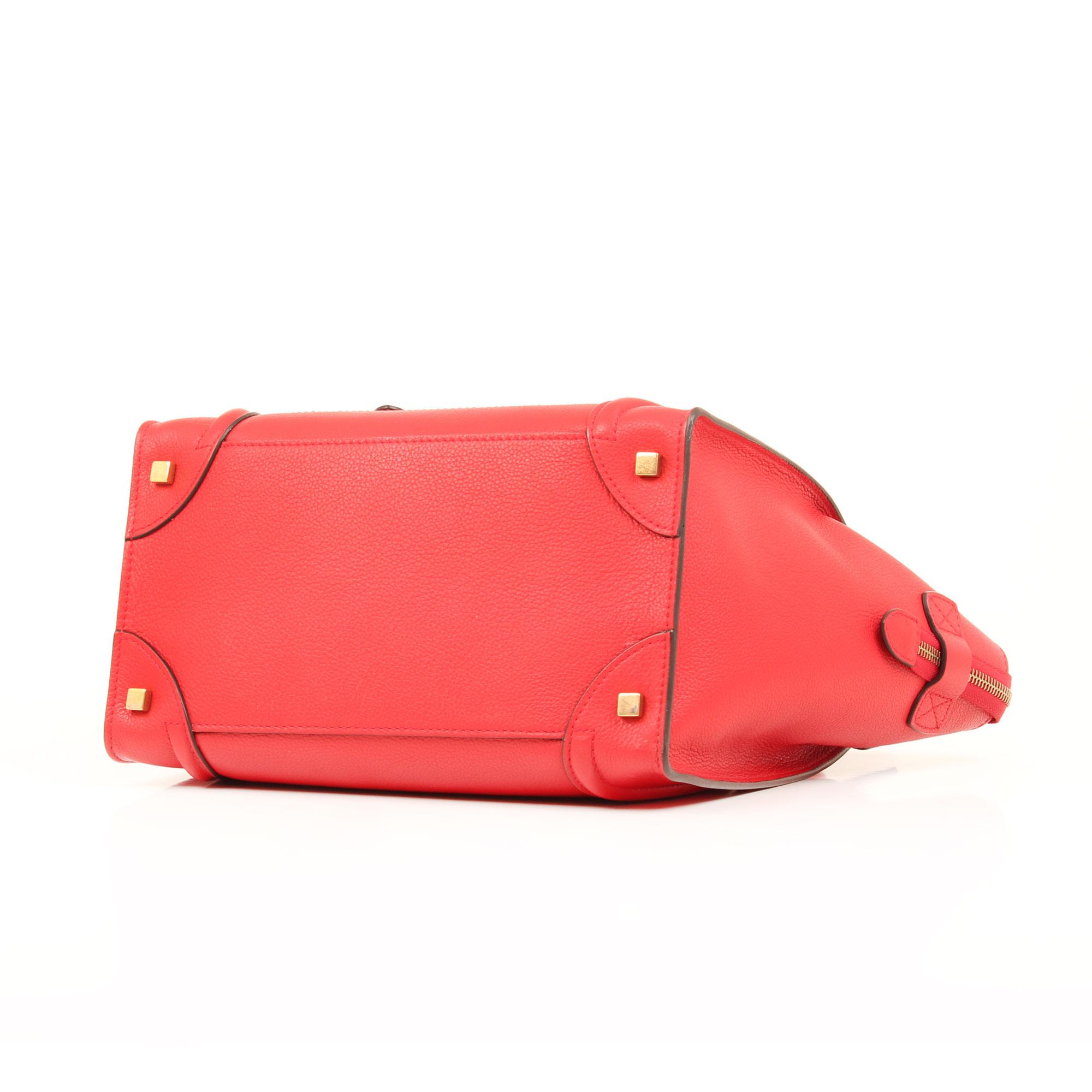 Imagen de la base del bolso celine mini lugagge coquelicot