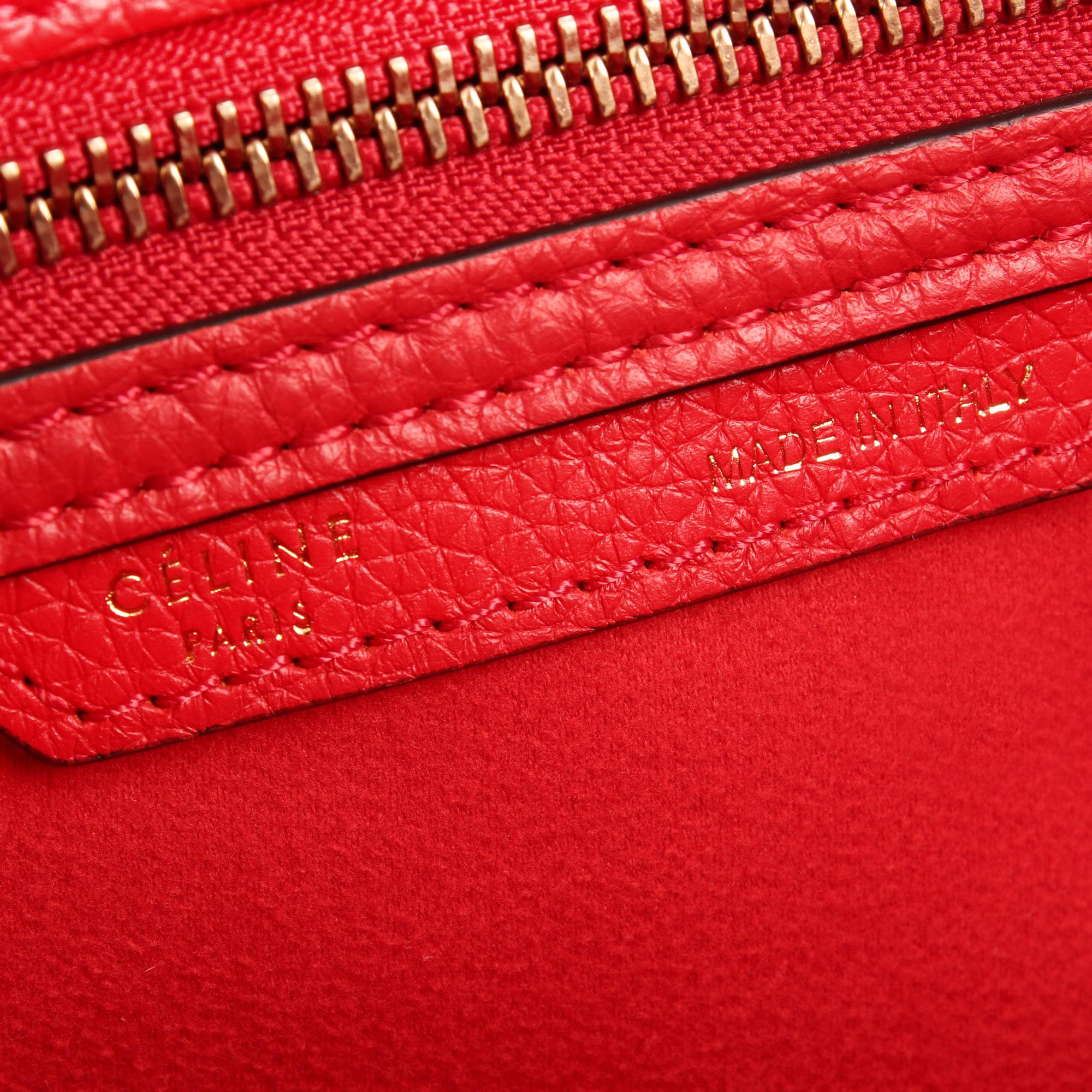 Imagen del serial number del bolso celine mini lugagge tote coquelicot