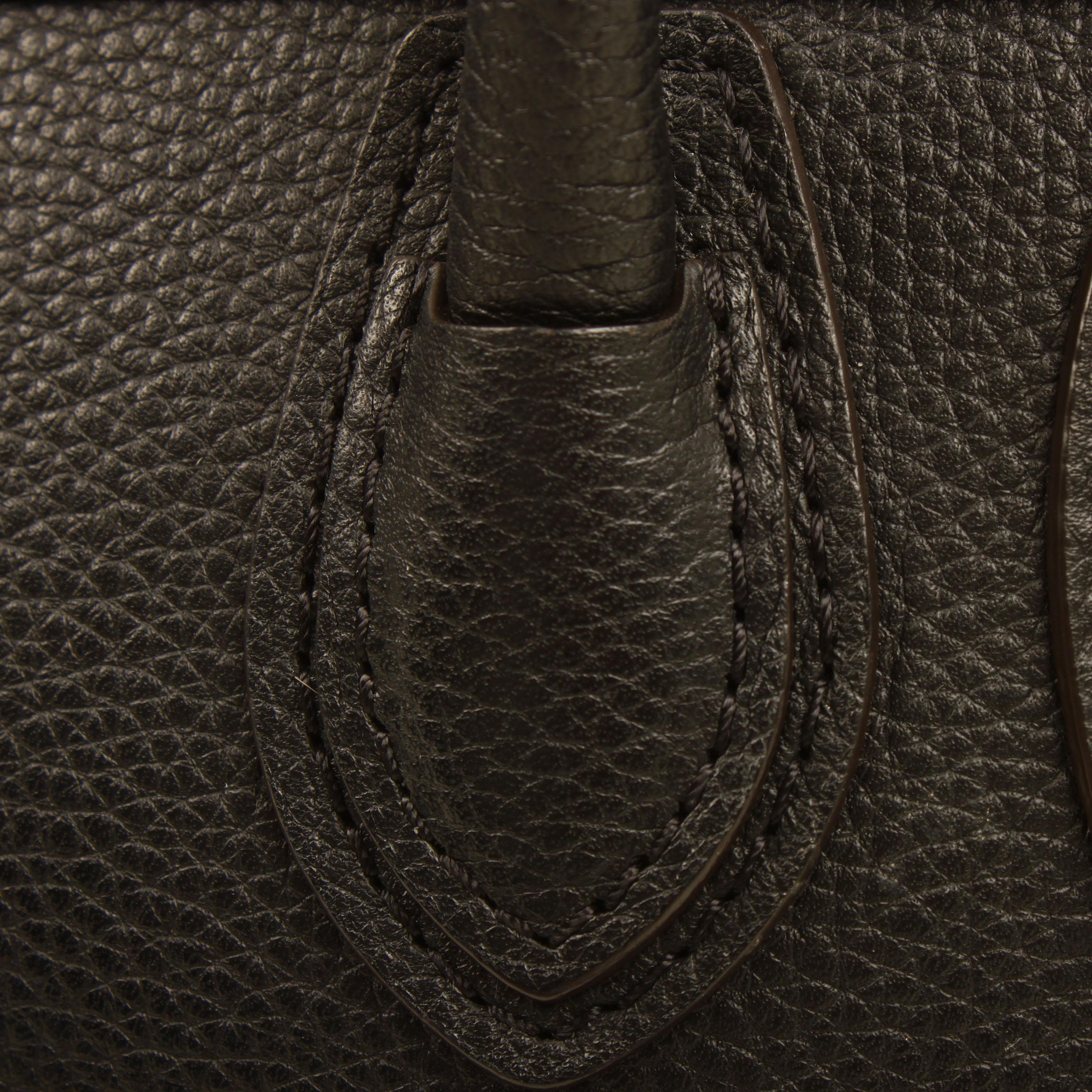 bolso celine nano luggage negro piel becerro detalle