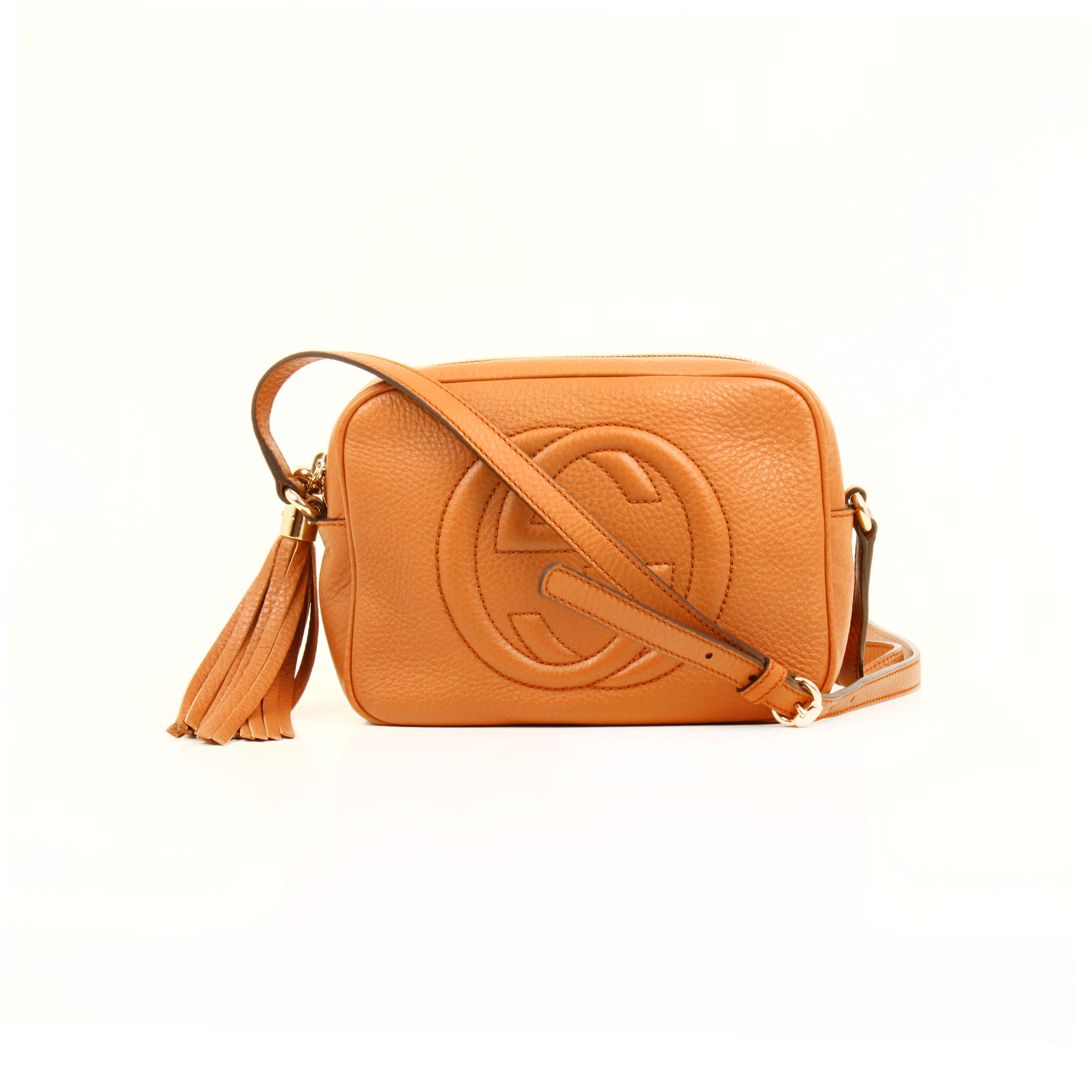 bolso gucci soho disco piel marron maple bandolera