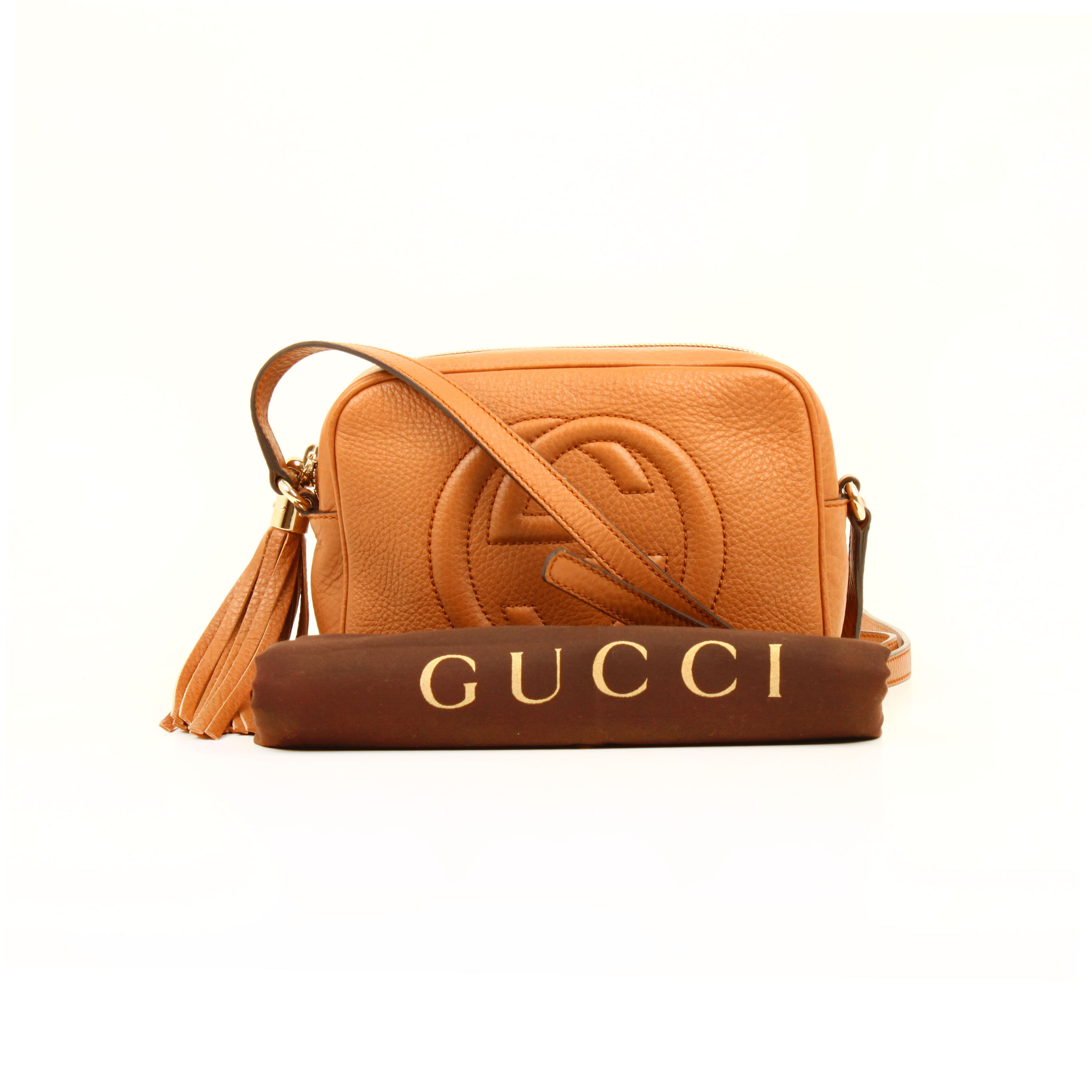 bolso gucci soho disco piel marron maple funda