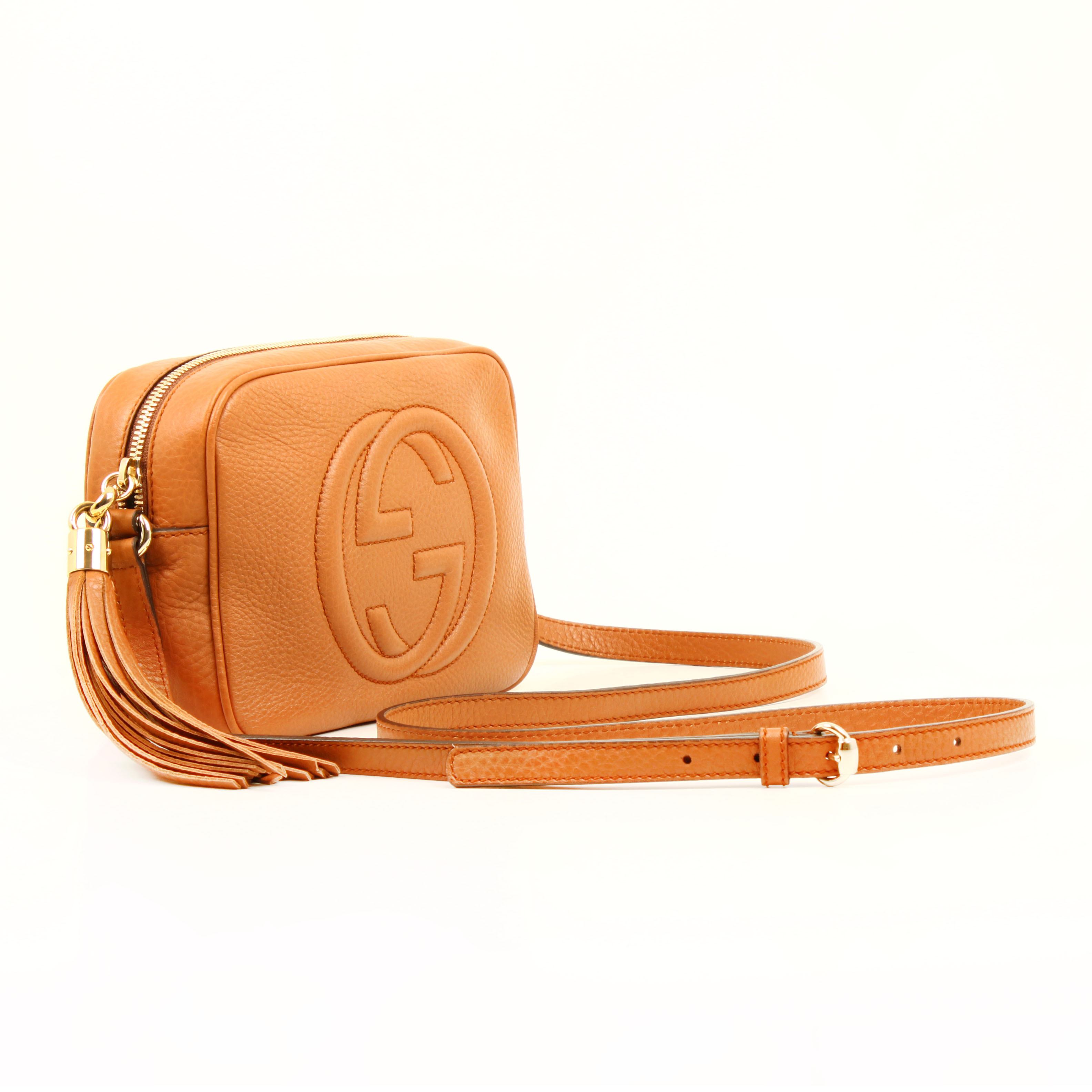 bolso gucci soho disco piel marron maple general