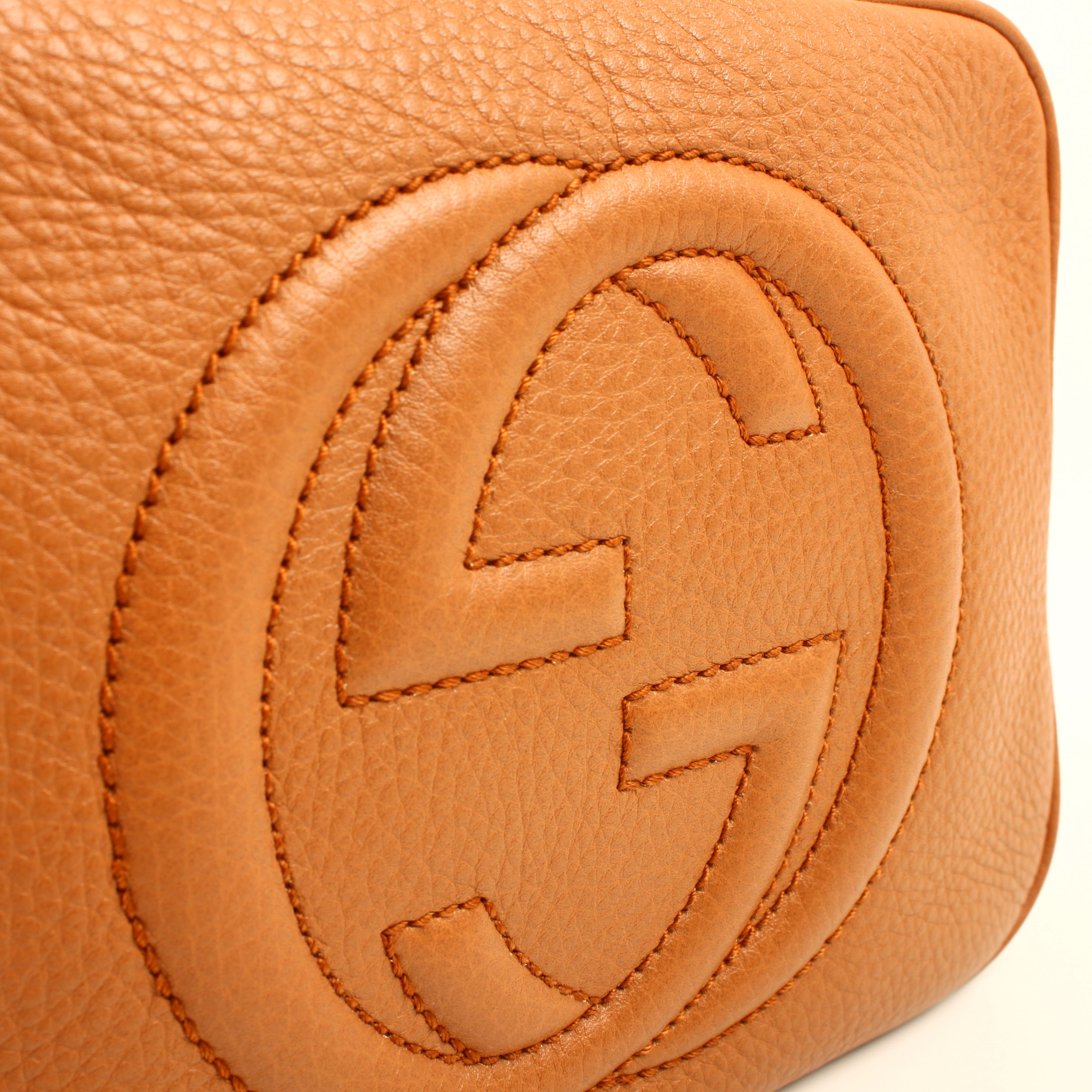 bolso gucci soho disco piel marron maple logo