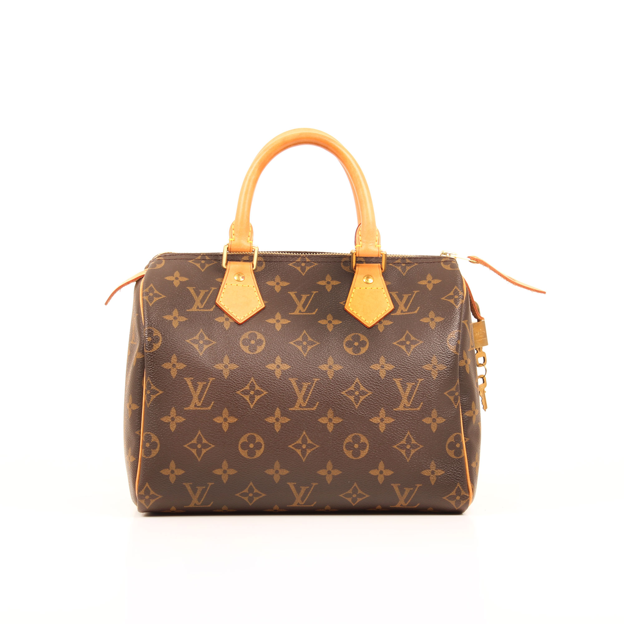 Imagen frontal del bolso louis vuitton speedy 25 monogram