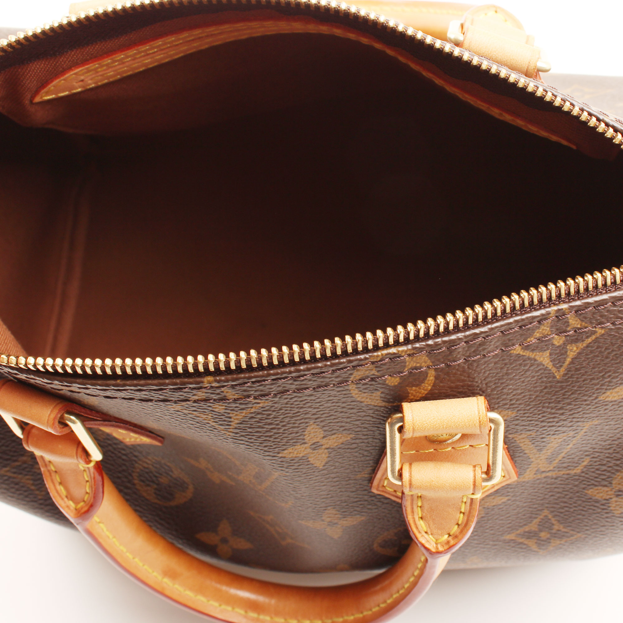 Imagen del interior del bolso louis vuitton speedy 25 monogram