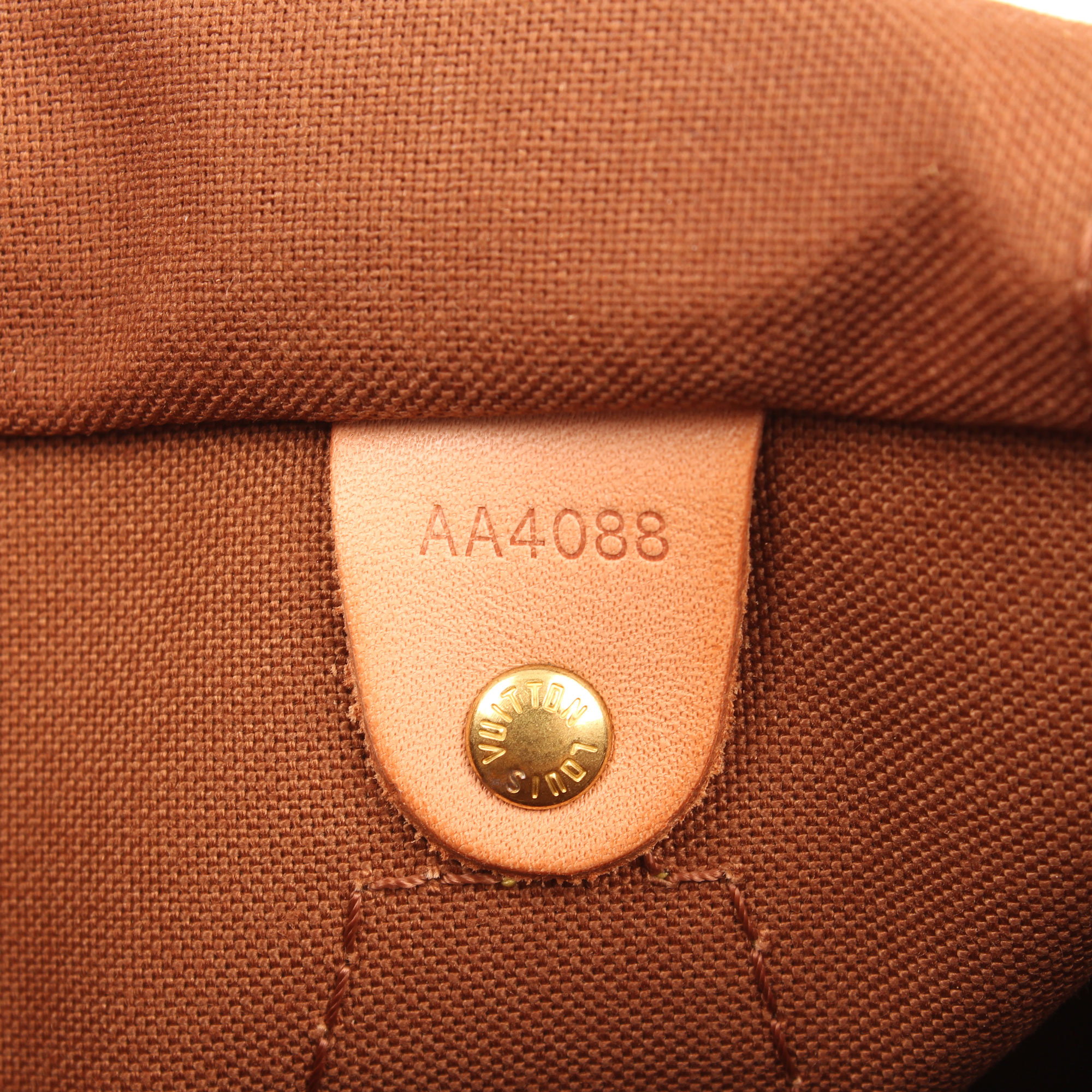 Imagen del serial number del bolso louis vuitton speedy 25 monogram