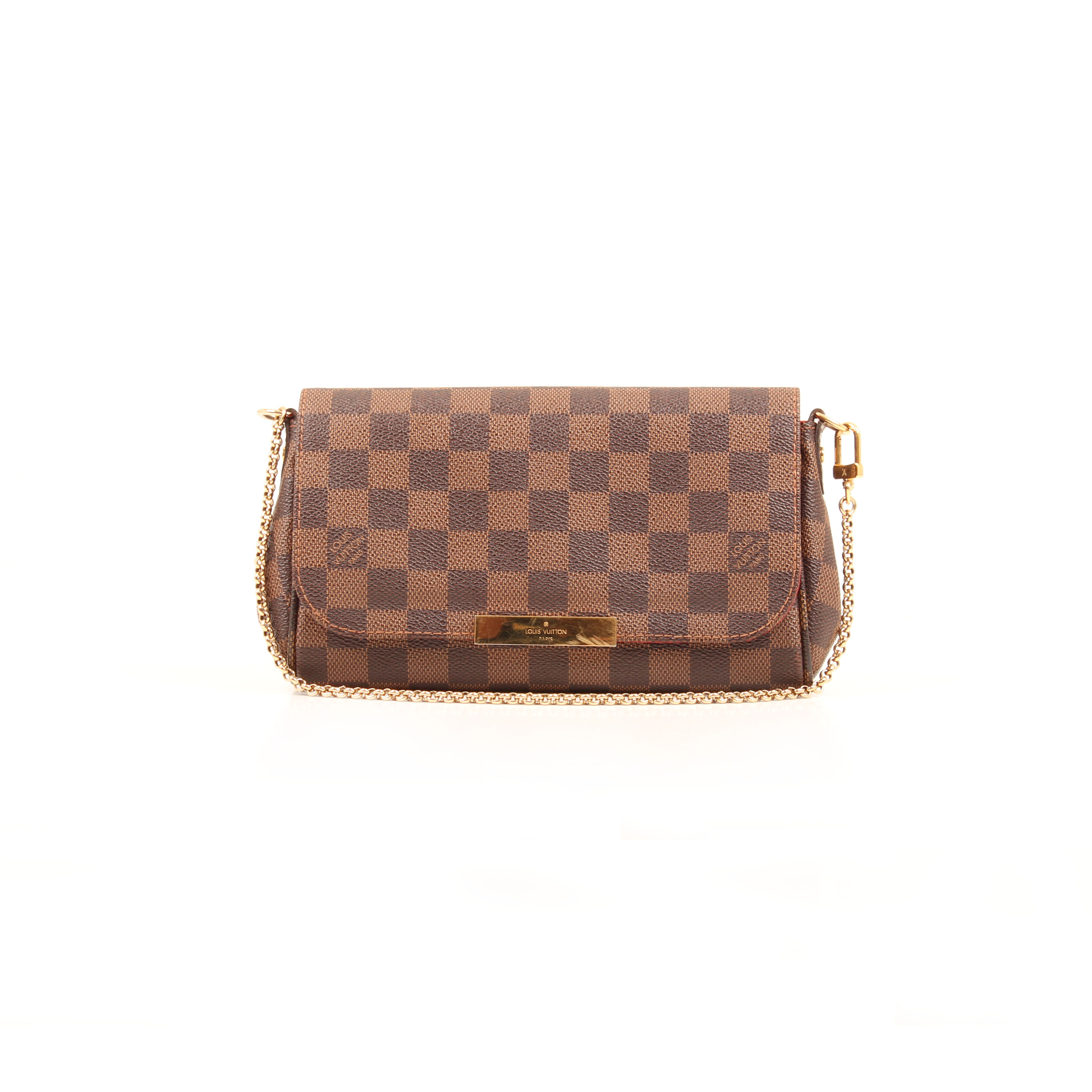 clutch louis vuitton favorite pm damier ebene front