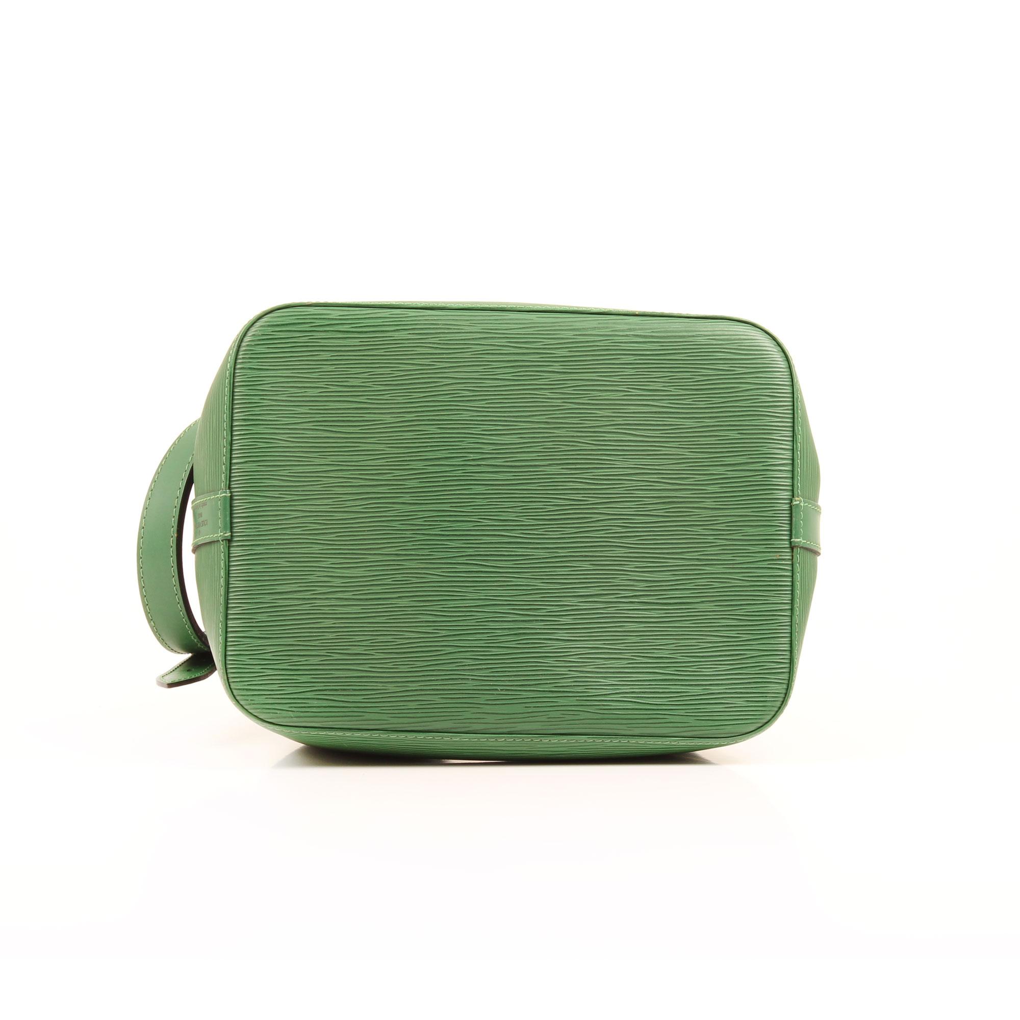 bolso al hombro louis vuitton noe verde epi base