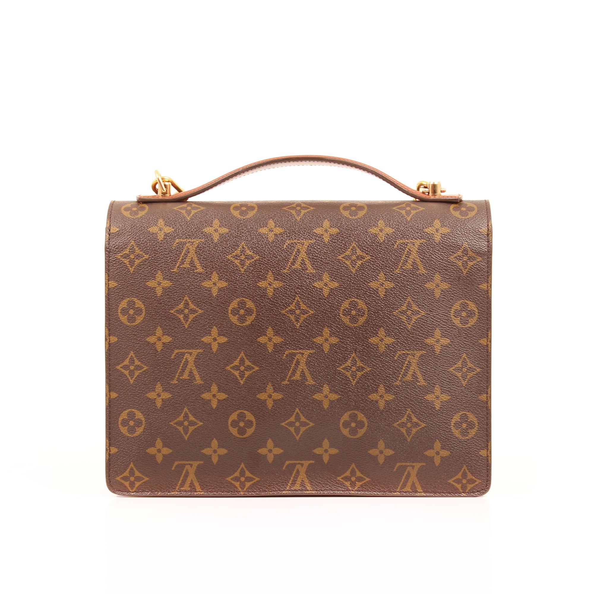 Imagen trasera del bolso bandolera louis vuitton monceau 28 monogram