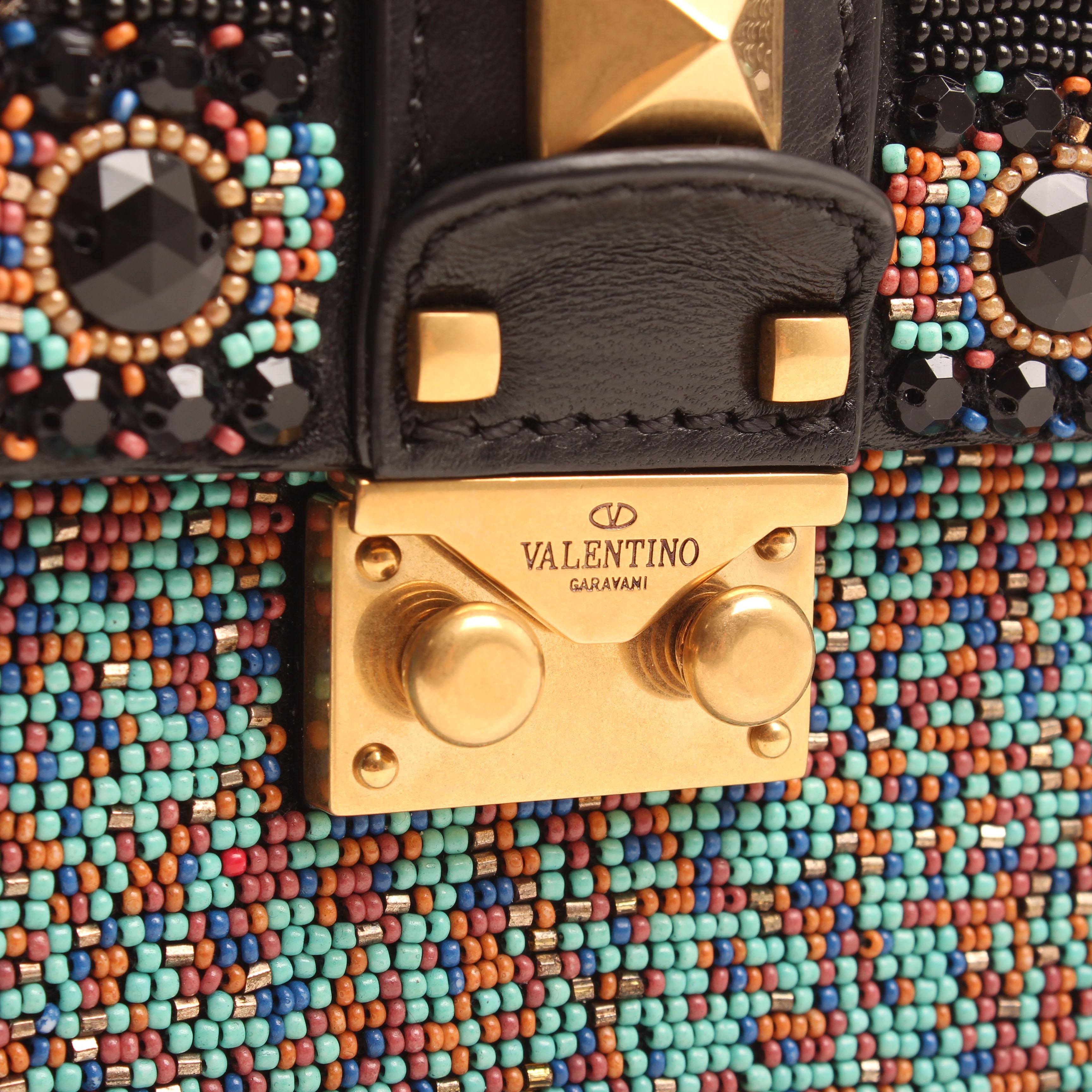 crossbody bag valentino glam lock rockstud beaded multicolor lock