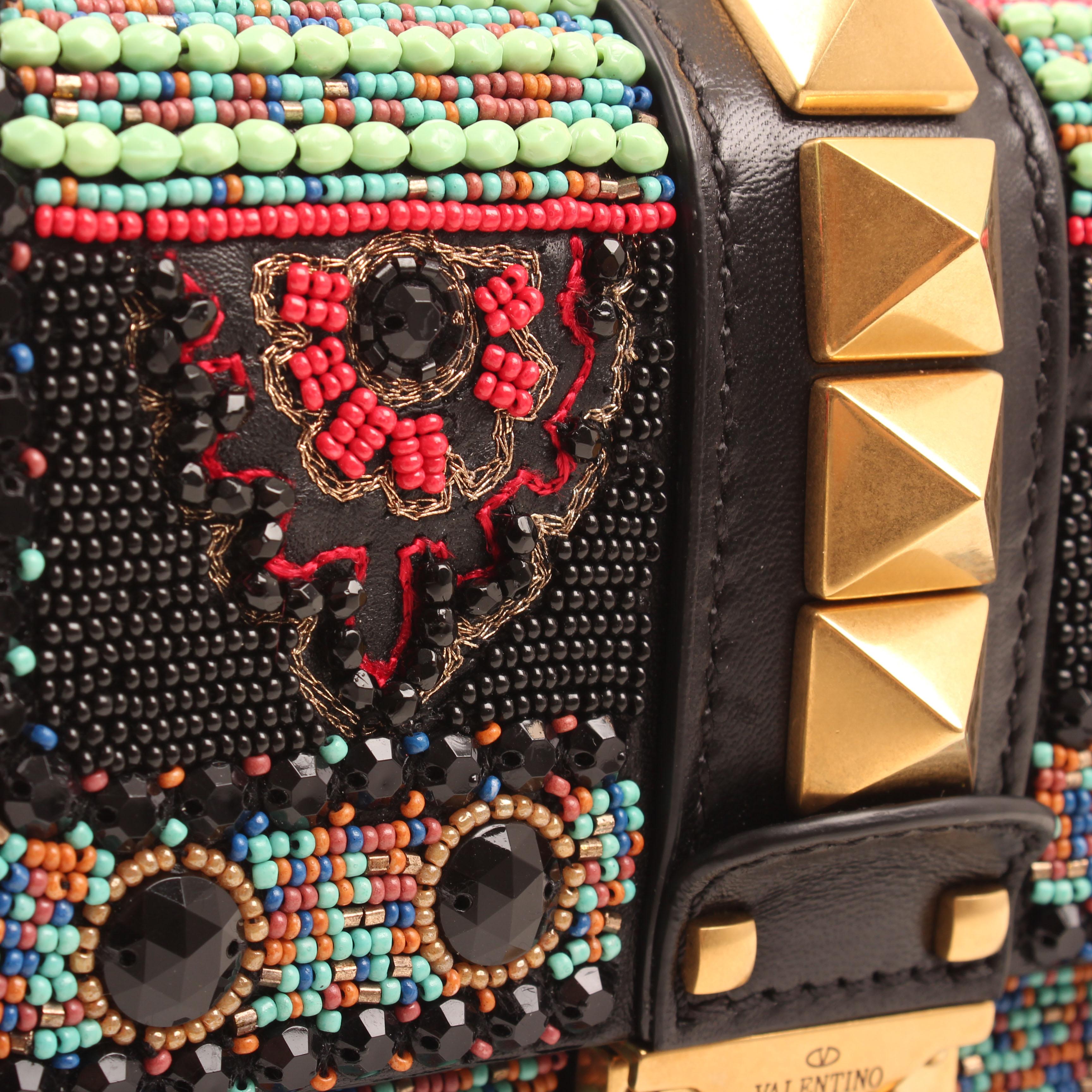 bolso cruzado valentino glam lock beaded fantasia detalle