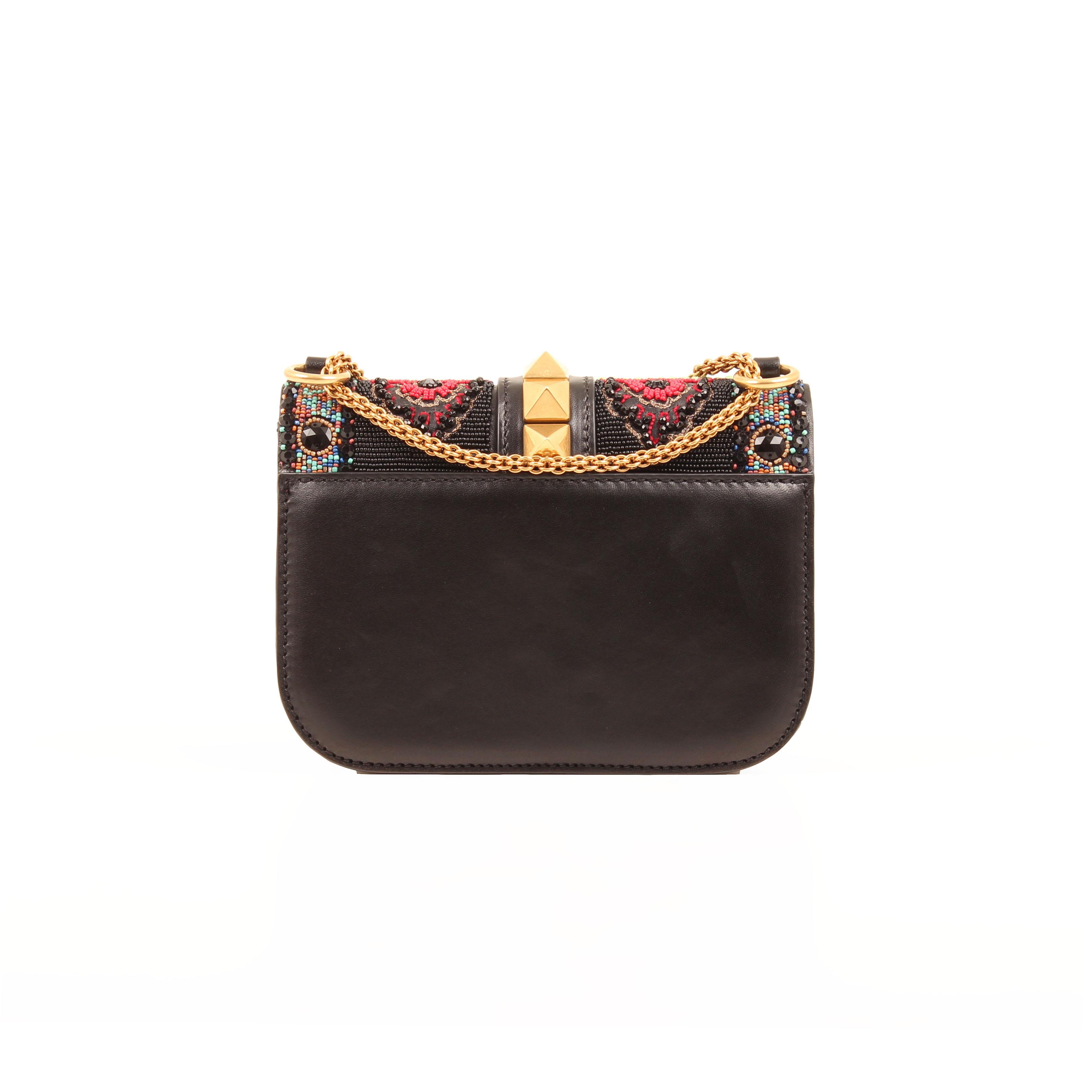 crossbody bag valentino glam lock rockstud beaded multicolor back